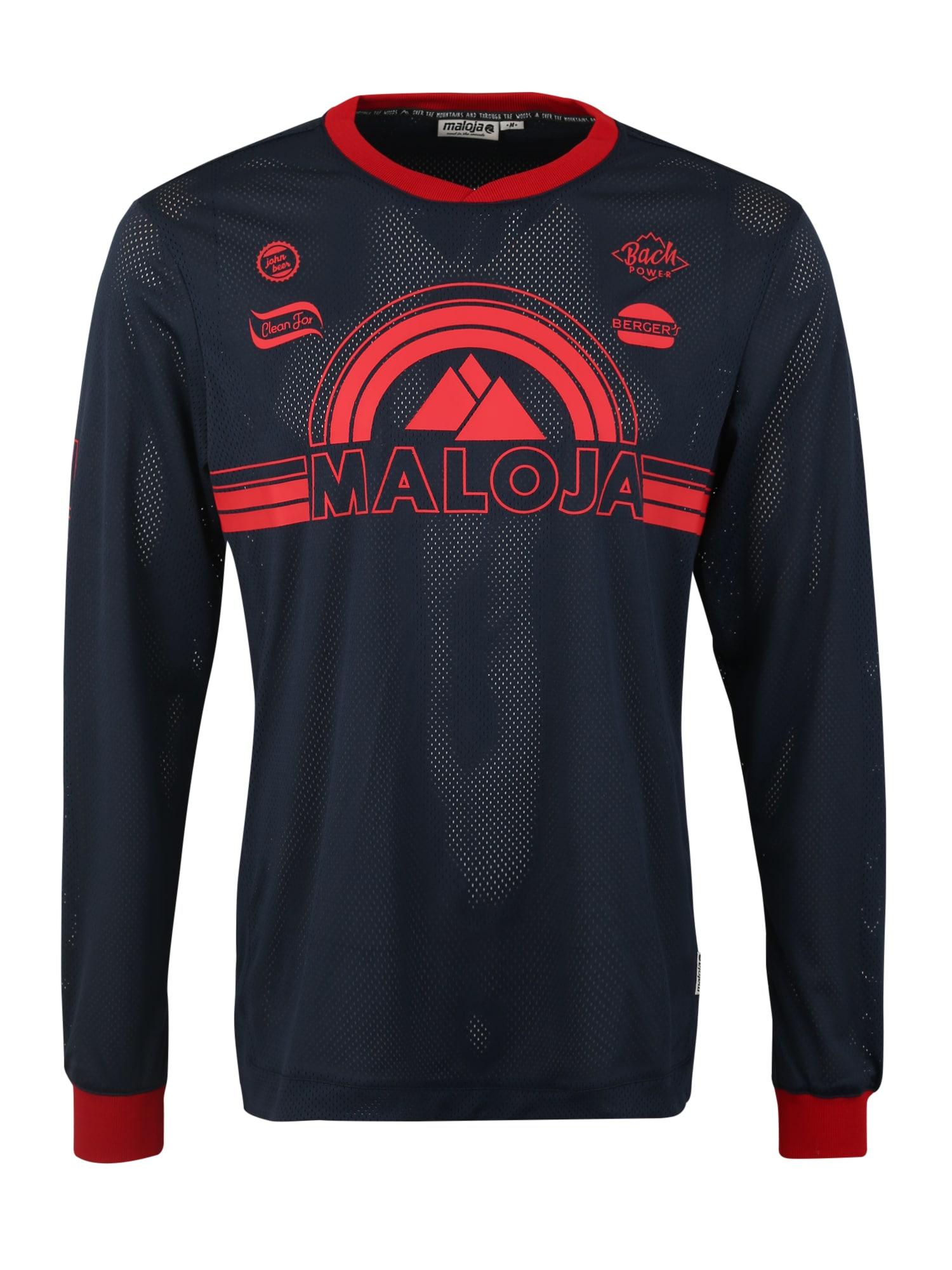 Funkční tričko StronM. tmavě modrá červená Maloja