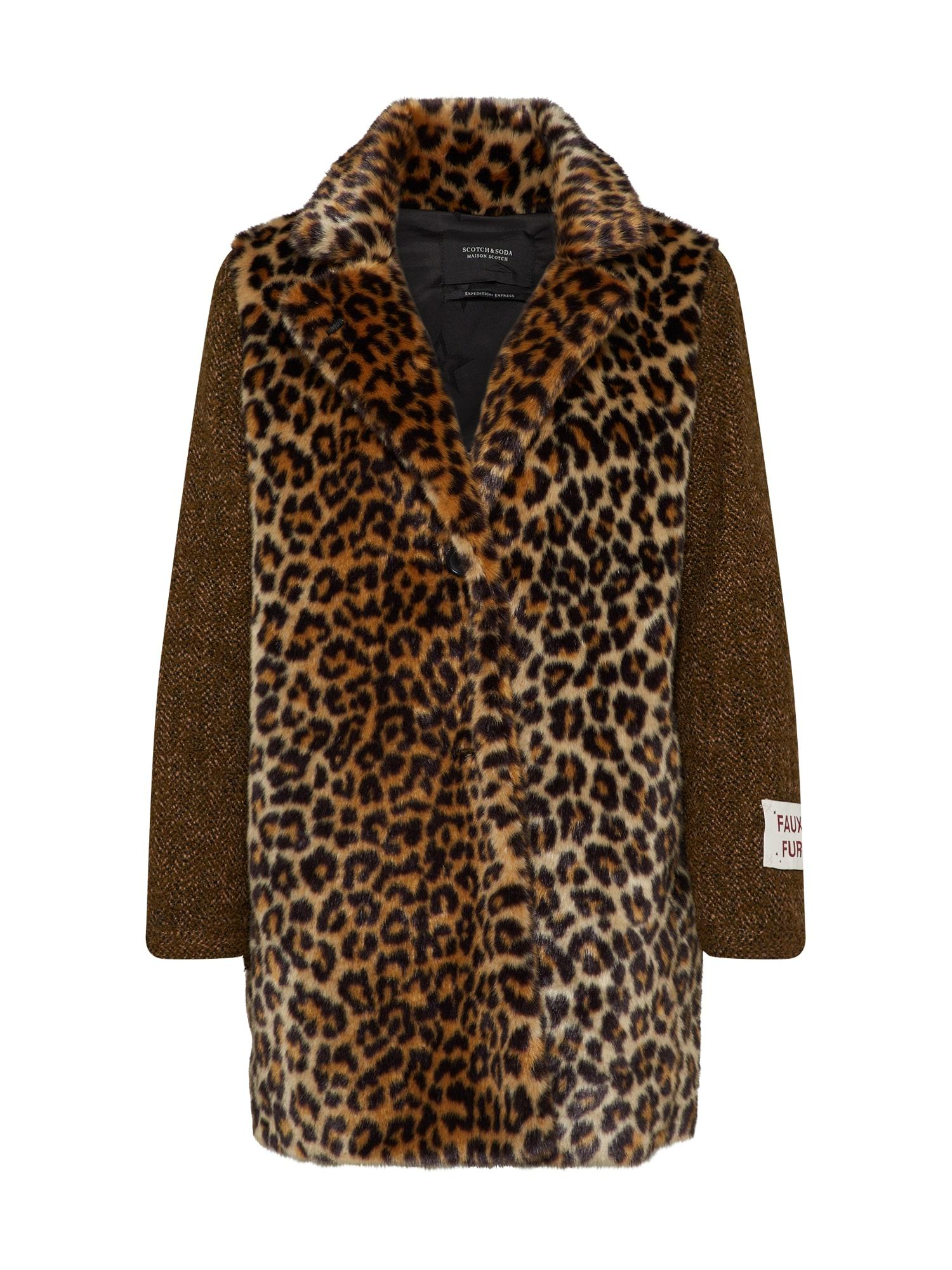 SCOTCH & SODA Přechodný kabát  hnědá / černá
