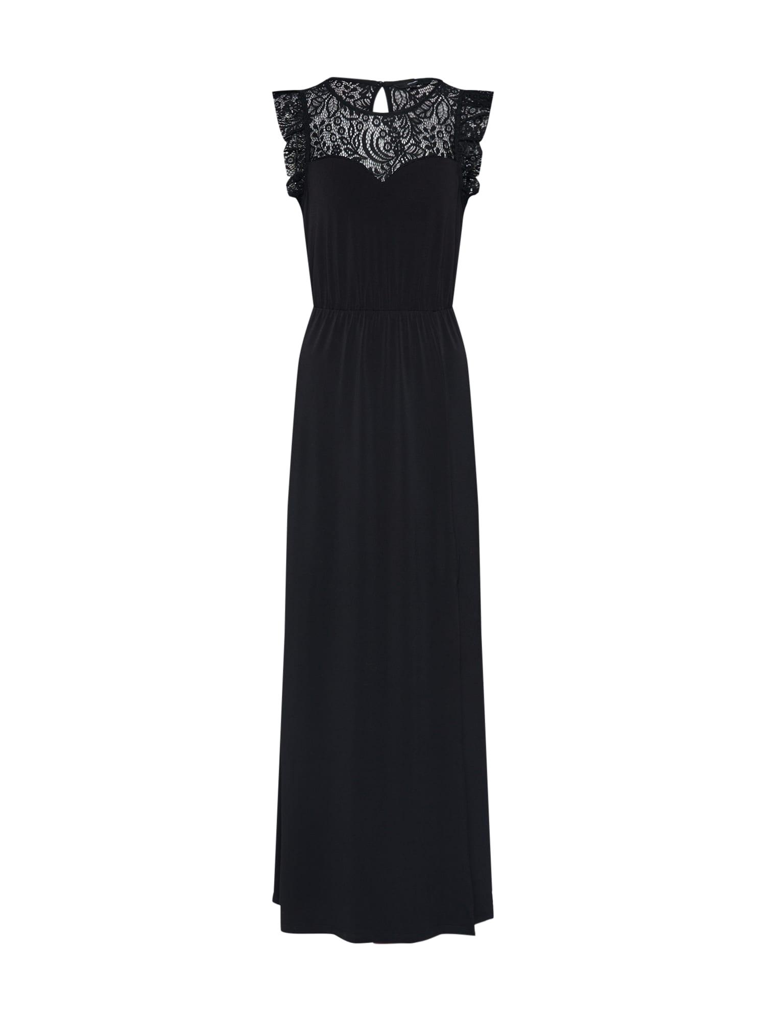 Společenské šaty Alberta Sweetheart černá VERO MODA
