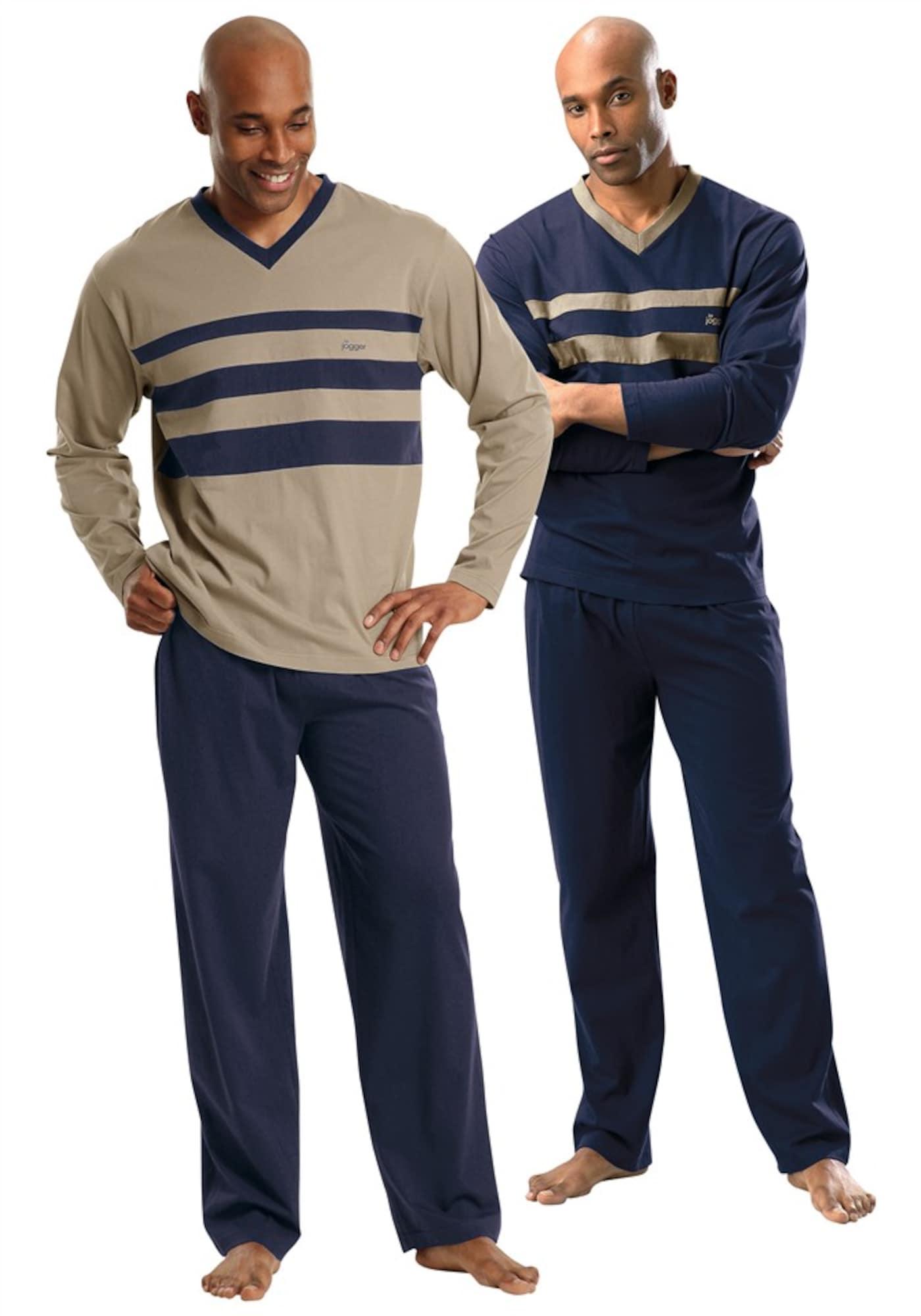 Pyjama (2 Stck.) | Bekleidung > Wäsche > Nachtwäsche | Blau | LE JOGGER