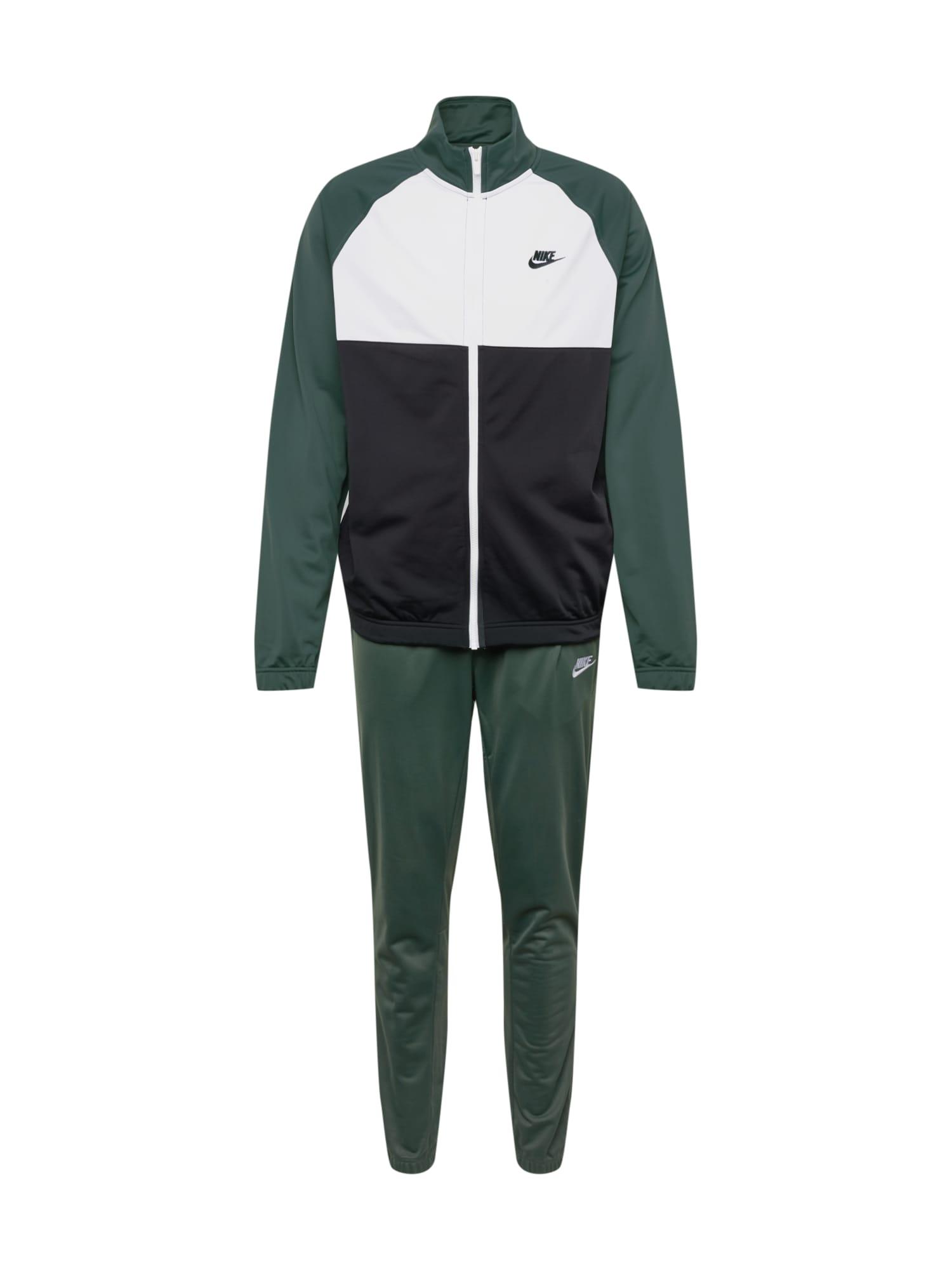 Domácí oblečení tmavě zelená černá bílá Nike Sportswear