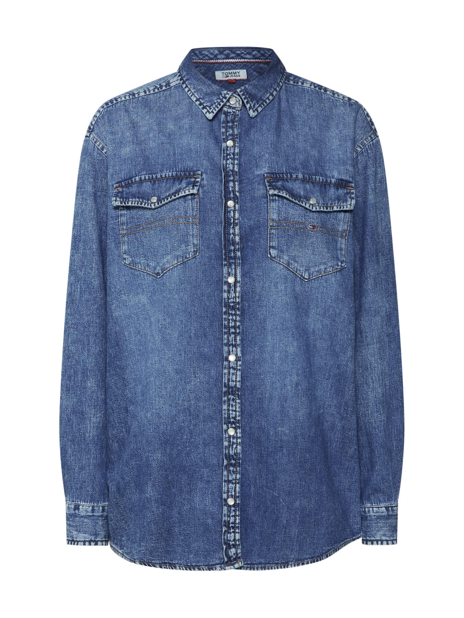 Halenka modrá džínovina Tommy Jeans