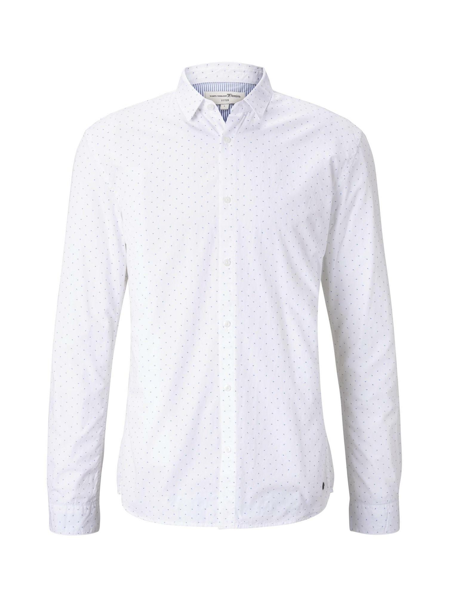 TOM TAILOR DENIM Košile  bílá