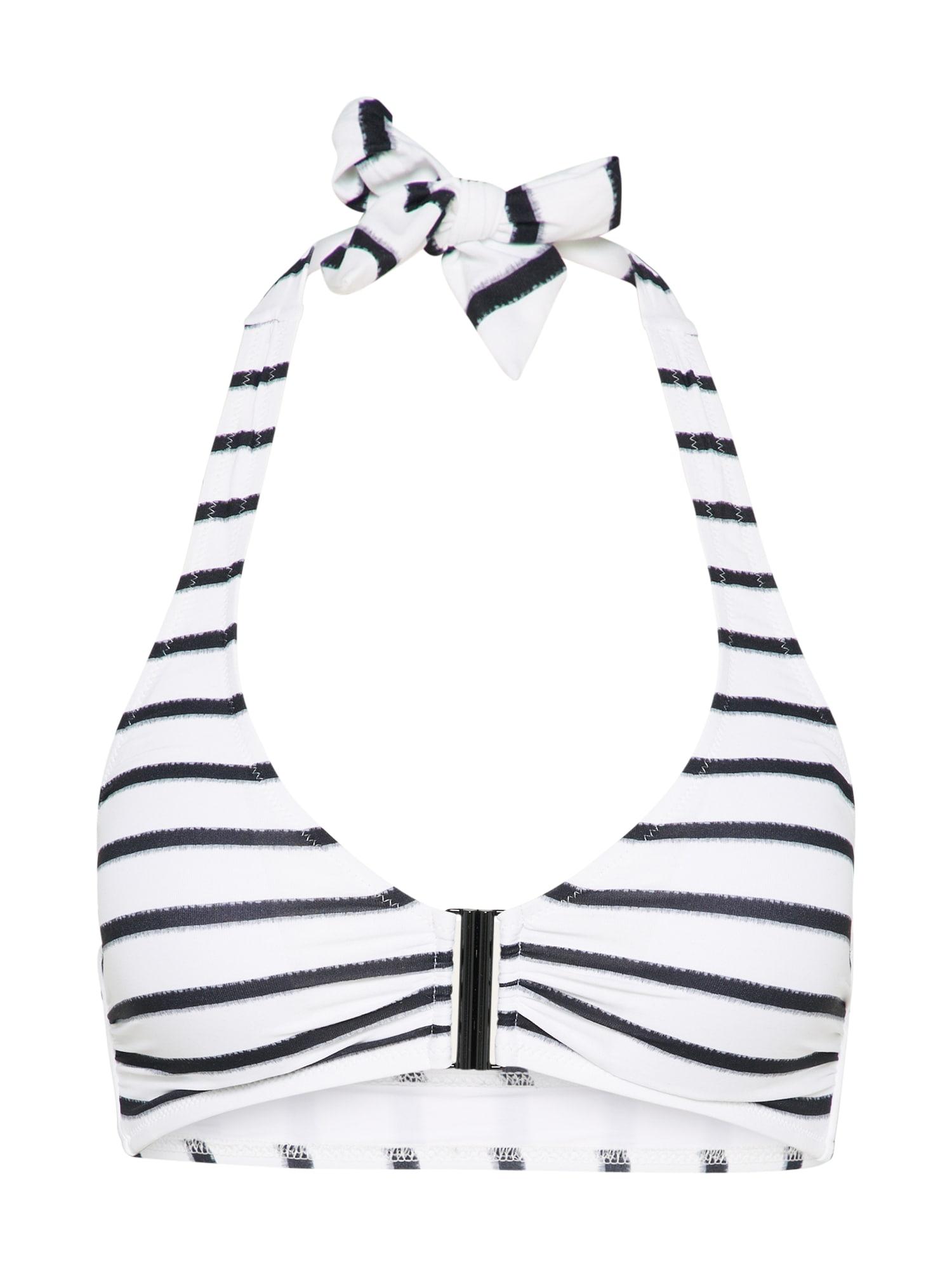 Horní díl plavek bikini top černá bílá Watercult