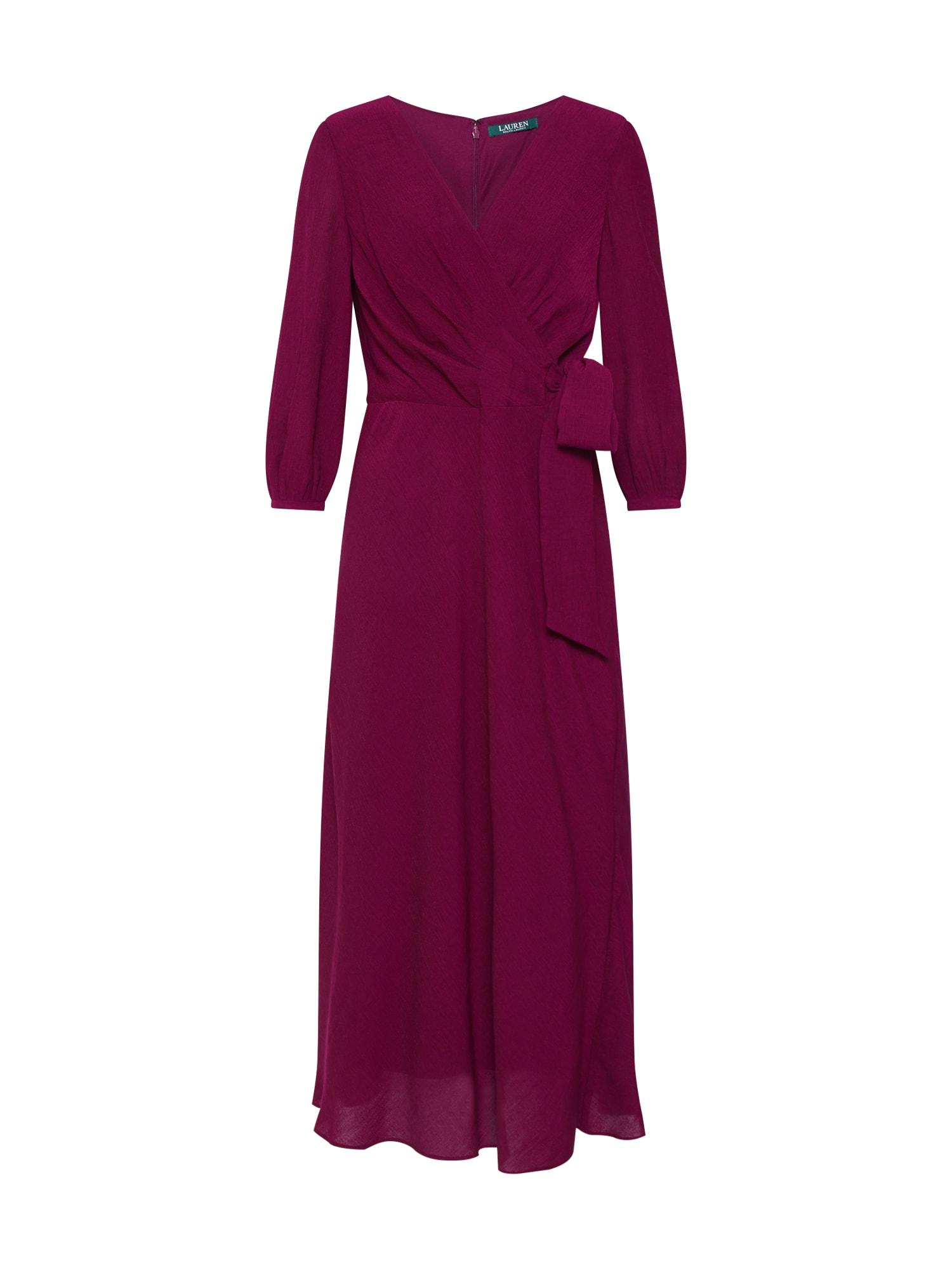 Koktejlové šaty AVIAH vínově červená Lauren Ralph Lauren