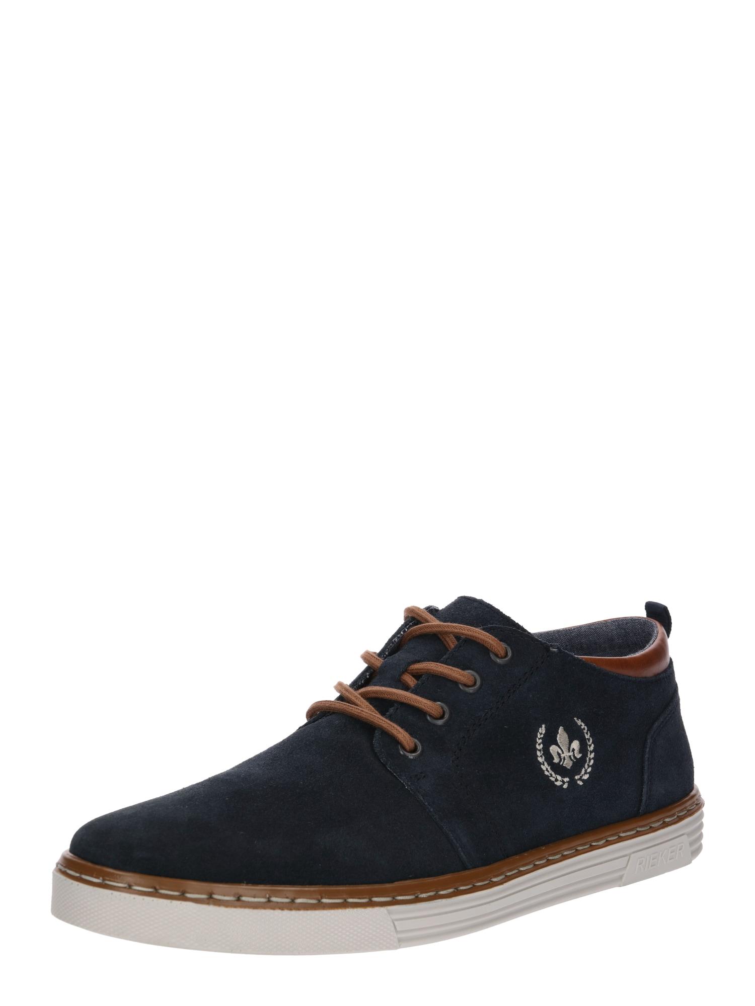 RIEKER Šněrovací boty 'B4930-14'  námořnická modř / hnědá