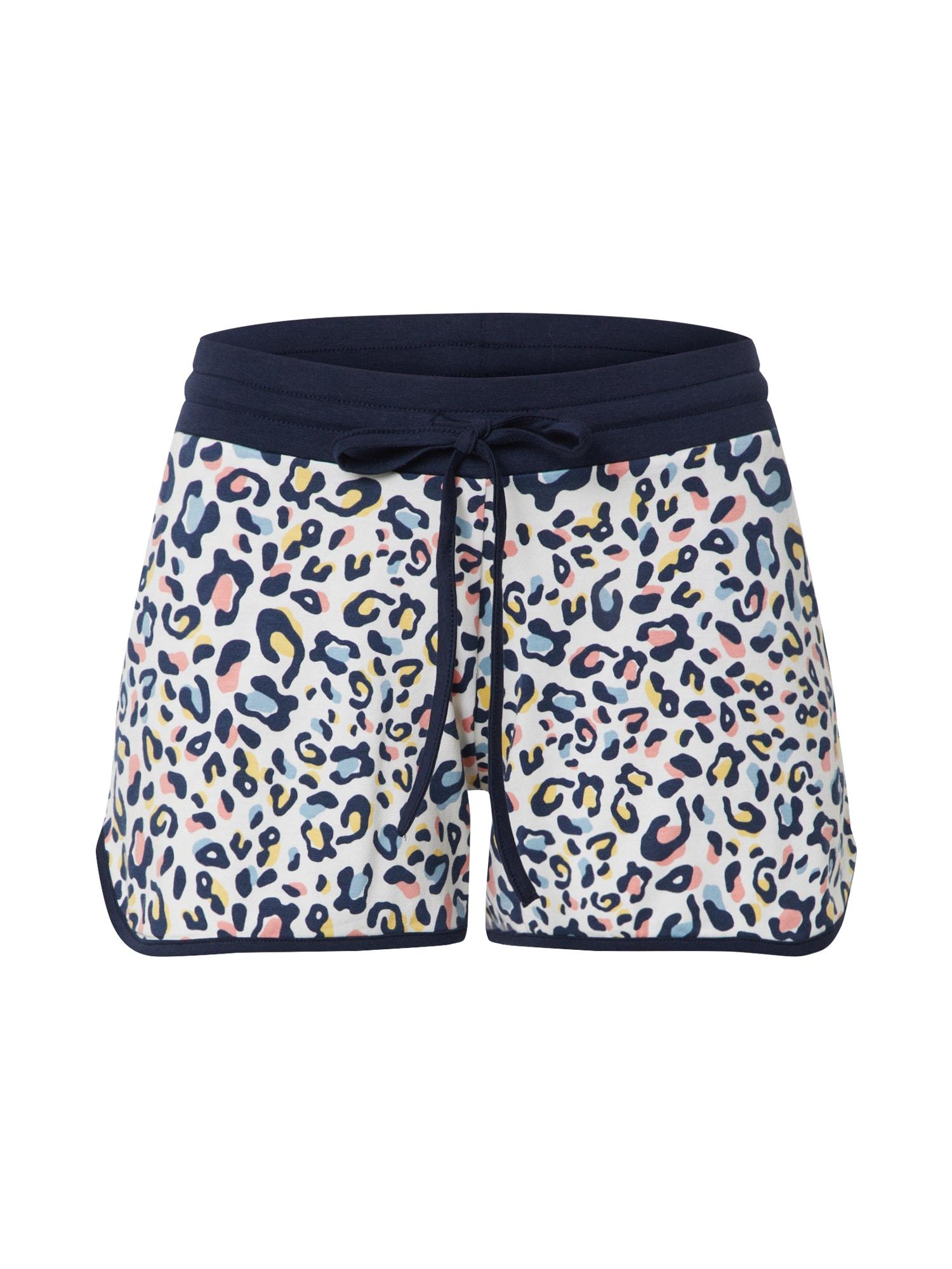 Mey Pyžamové kalhoty  mix barev / bílá / tmavě modrá