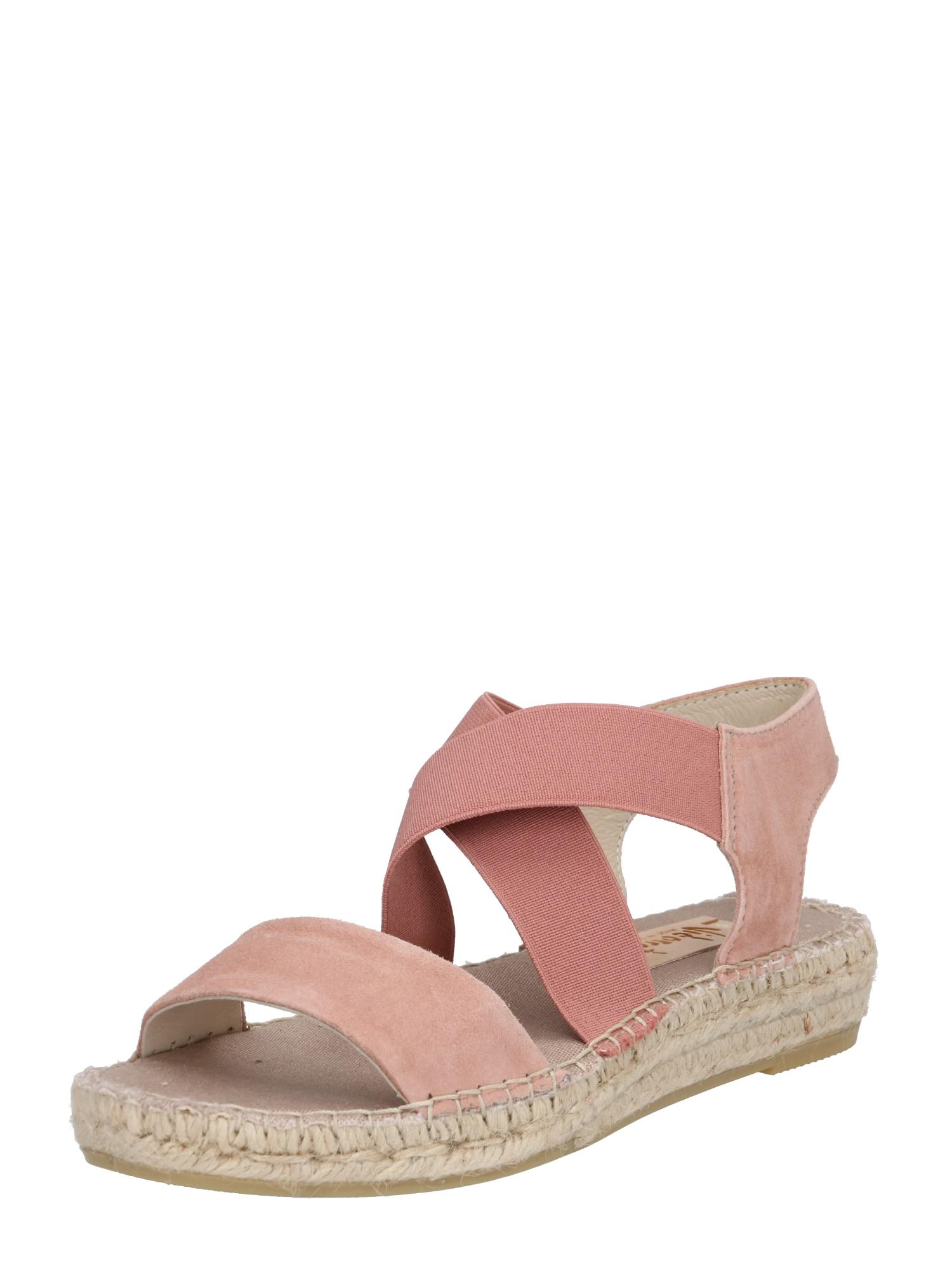 Páskové sandály růžová Vidorreta