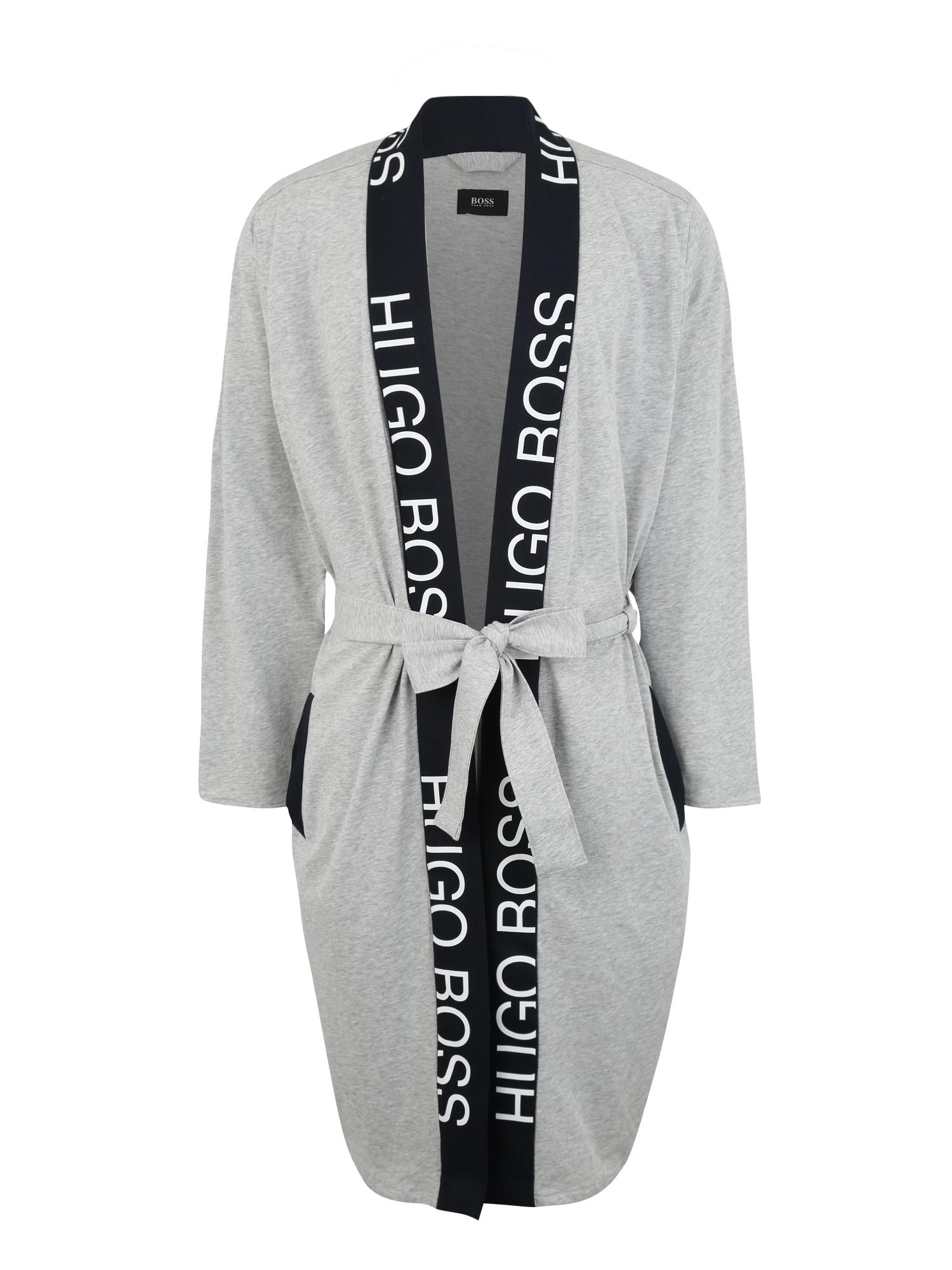 Dlouhý župan Identity Kimono šedá BOSS