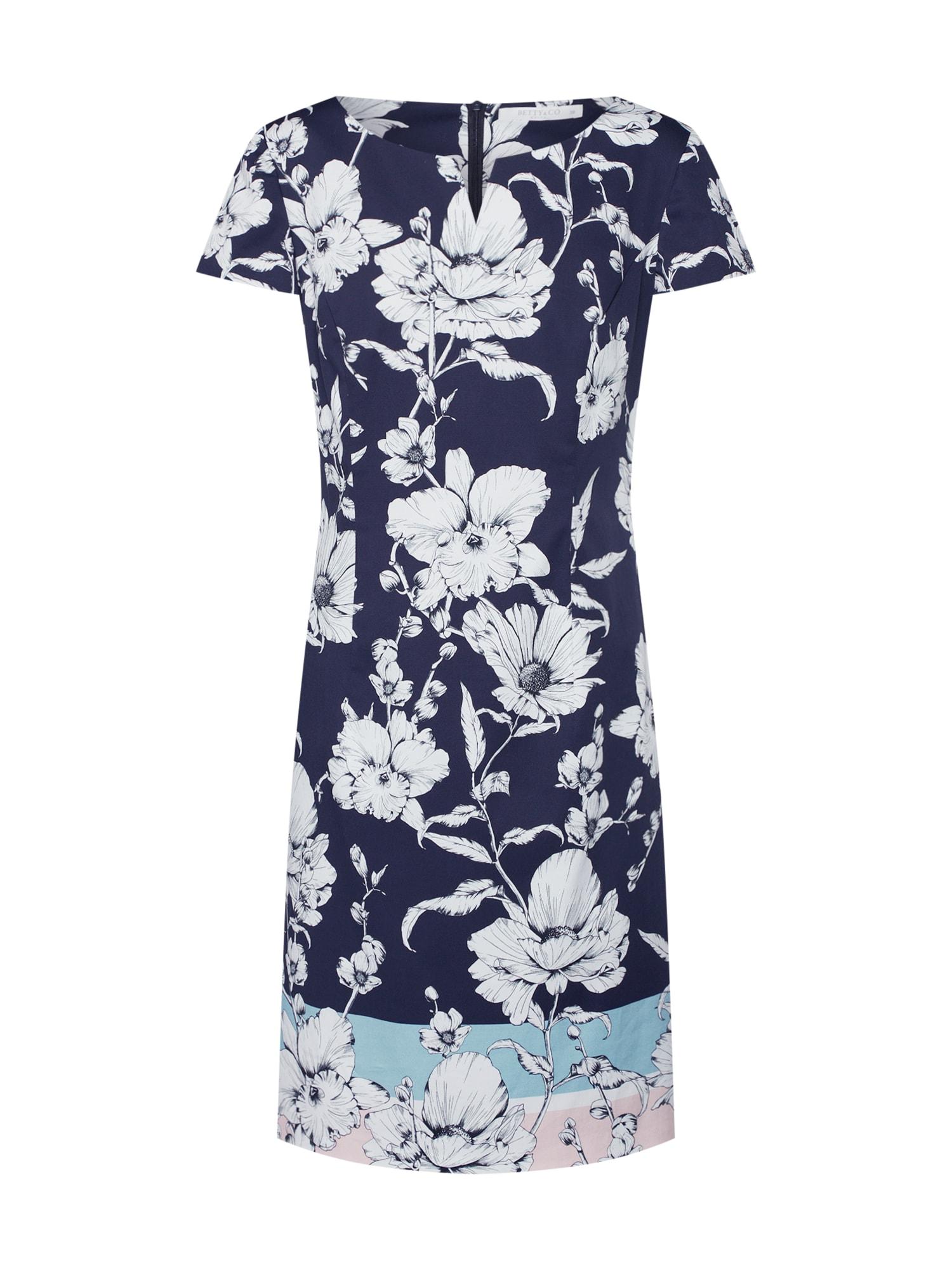 Šaty modrá růžová Betty & Co