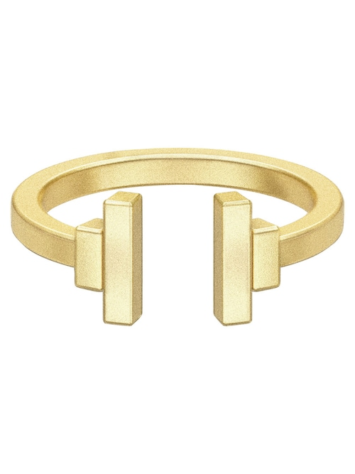 - PIECES & Julie Sandlau - Fantastischer Design-Ring - Offenes Design - 22-karätig vergoldet - Größe 48: 18,88 x 19,80 x 8 mm - Größe 50: 19,52 x 20,44 x 8 mm - Größe 53: 20,80 x 21,40 x 8 mm - Größe 56: 21,43 x 22,35 x 8