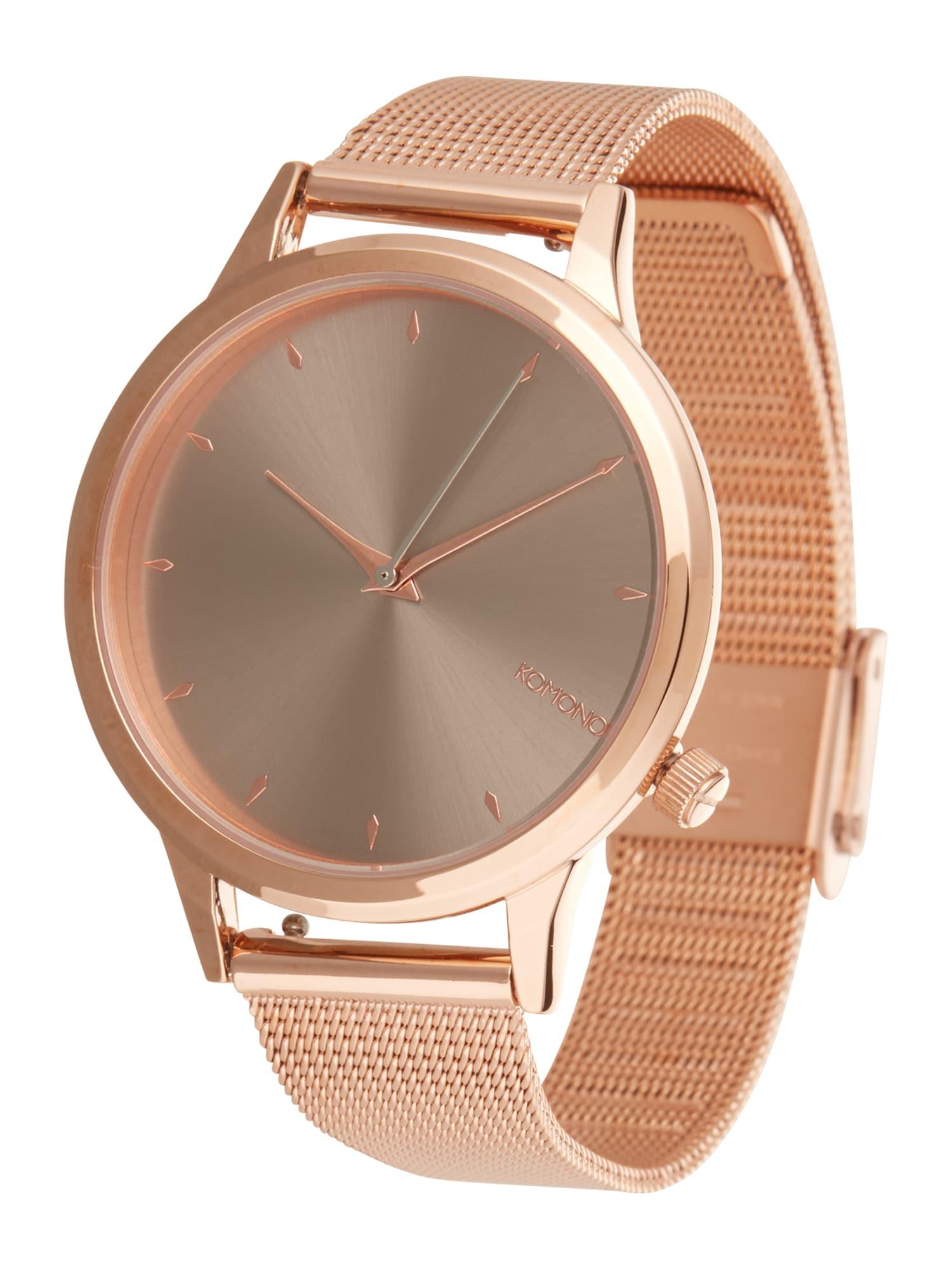 Analogové hodinky Lexi Royale růžově zlatá šedá Komono