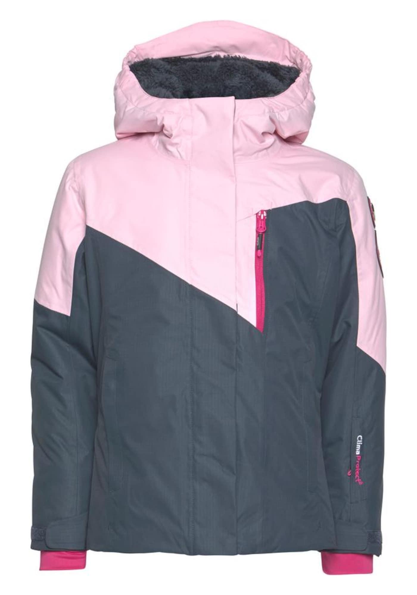 Sportovní bunda šedá růžová CMP