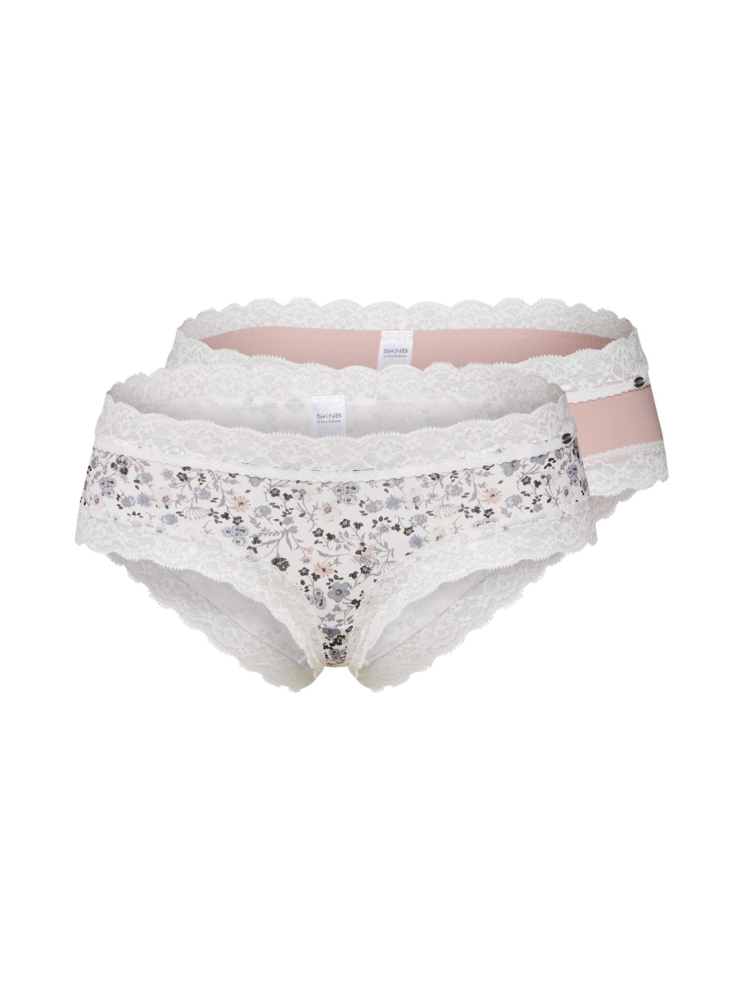 Kalhotky Sweet Cotton Mix mix barev růžová bílá Skiny