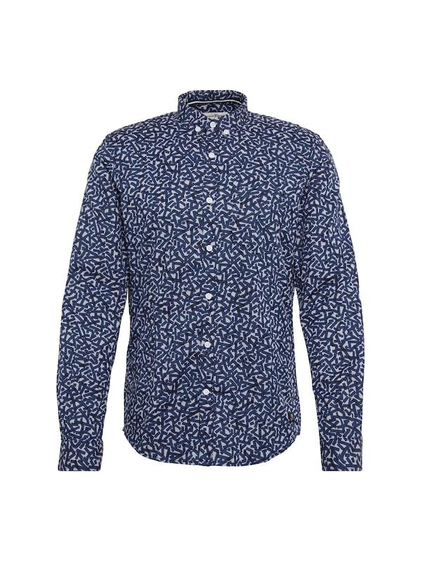 TOM TAILOR DENIM Hemd ´fitted melange aop shirt´ jetztbilligerkaufen