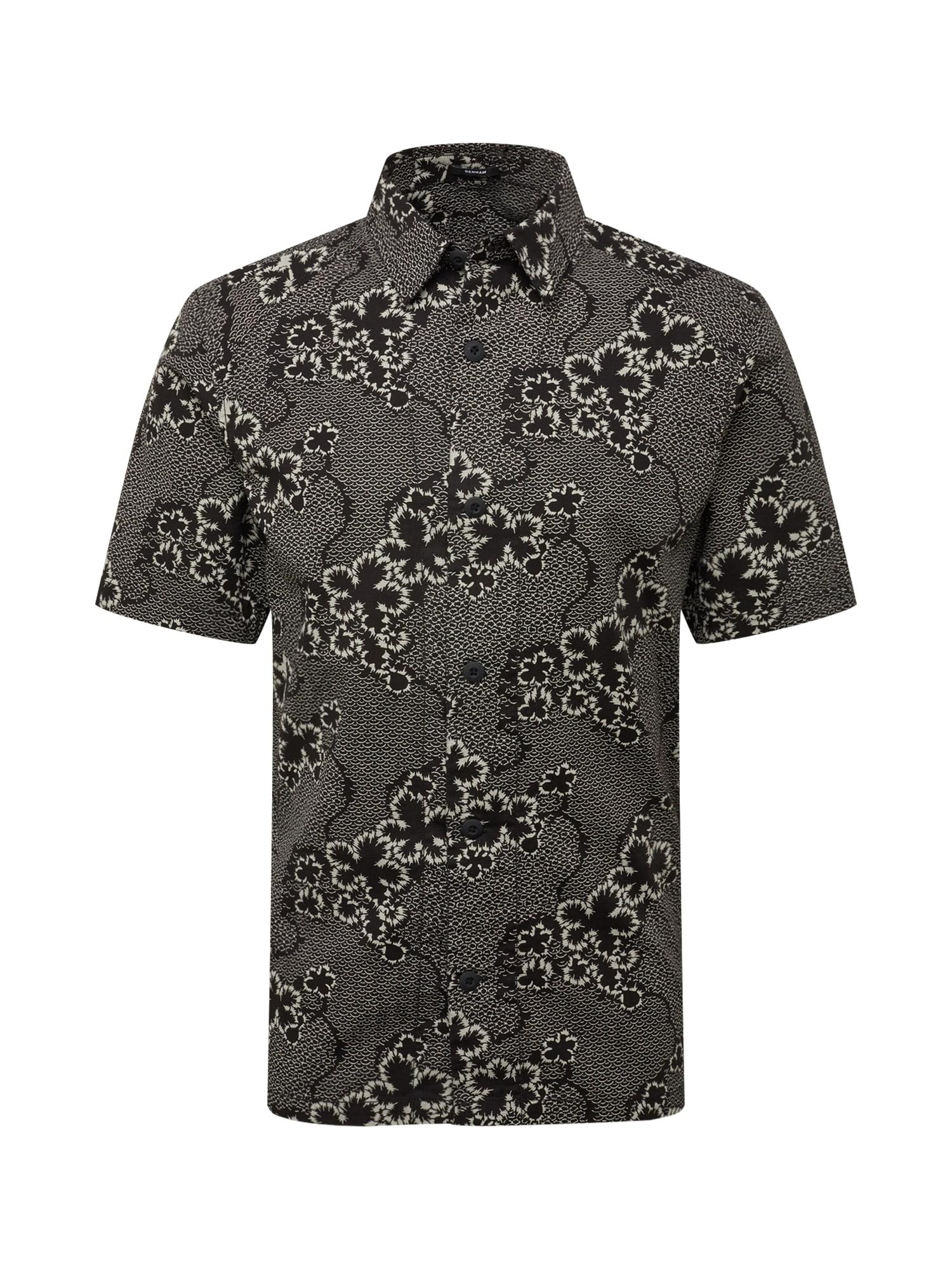 Košile SHERMAN tmavě šedá černá DENHAM