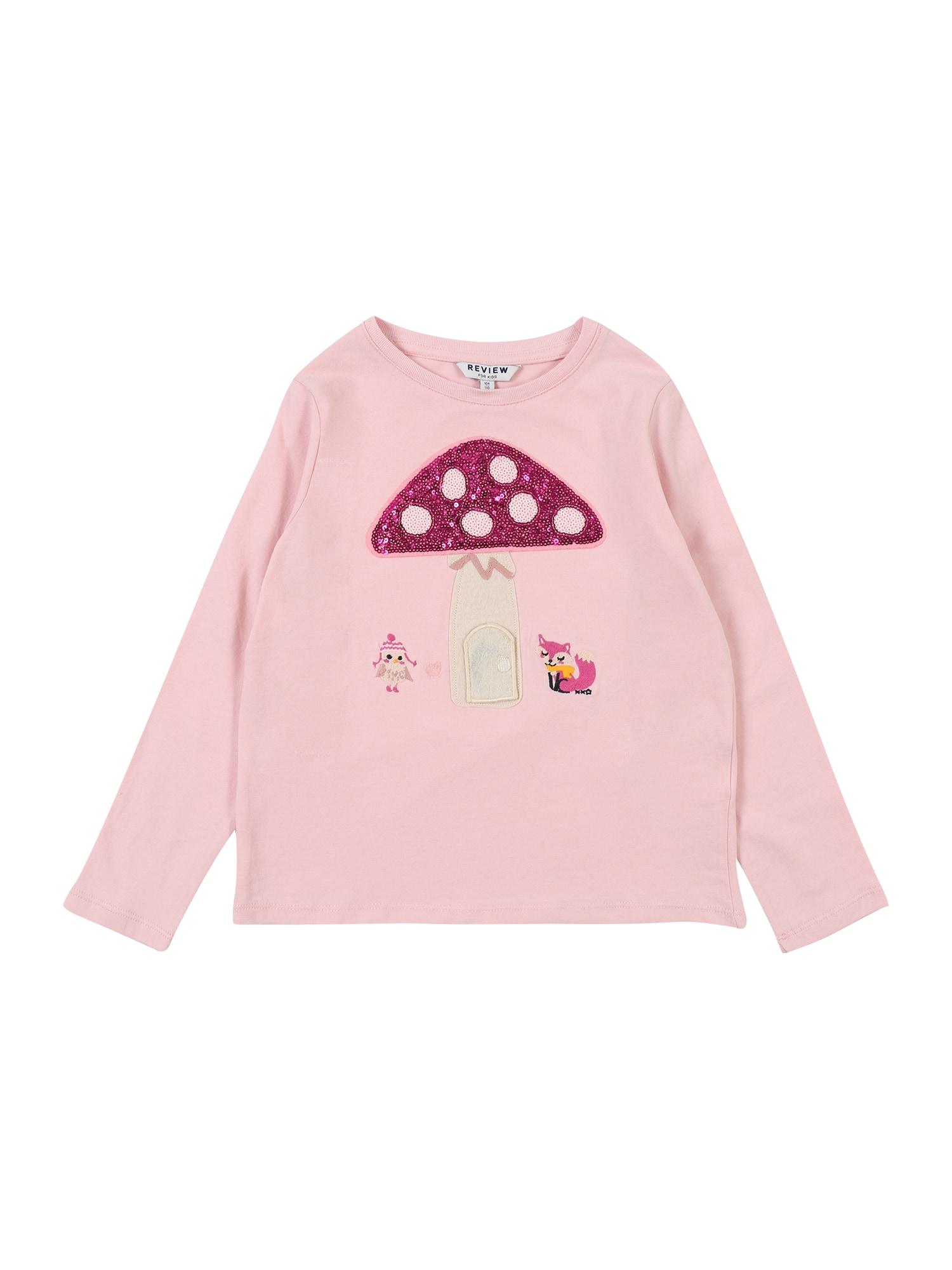 REVIEW FOR KIDS Tričko  růžová