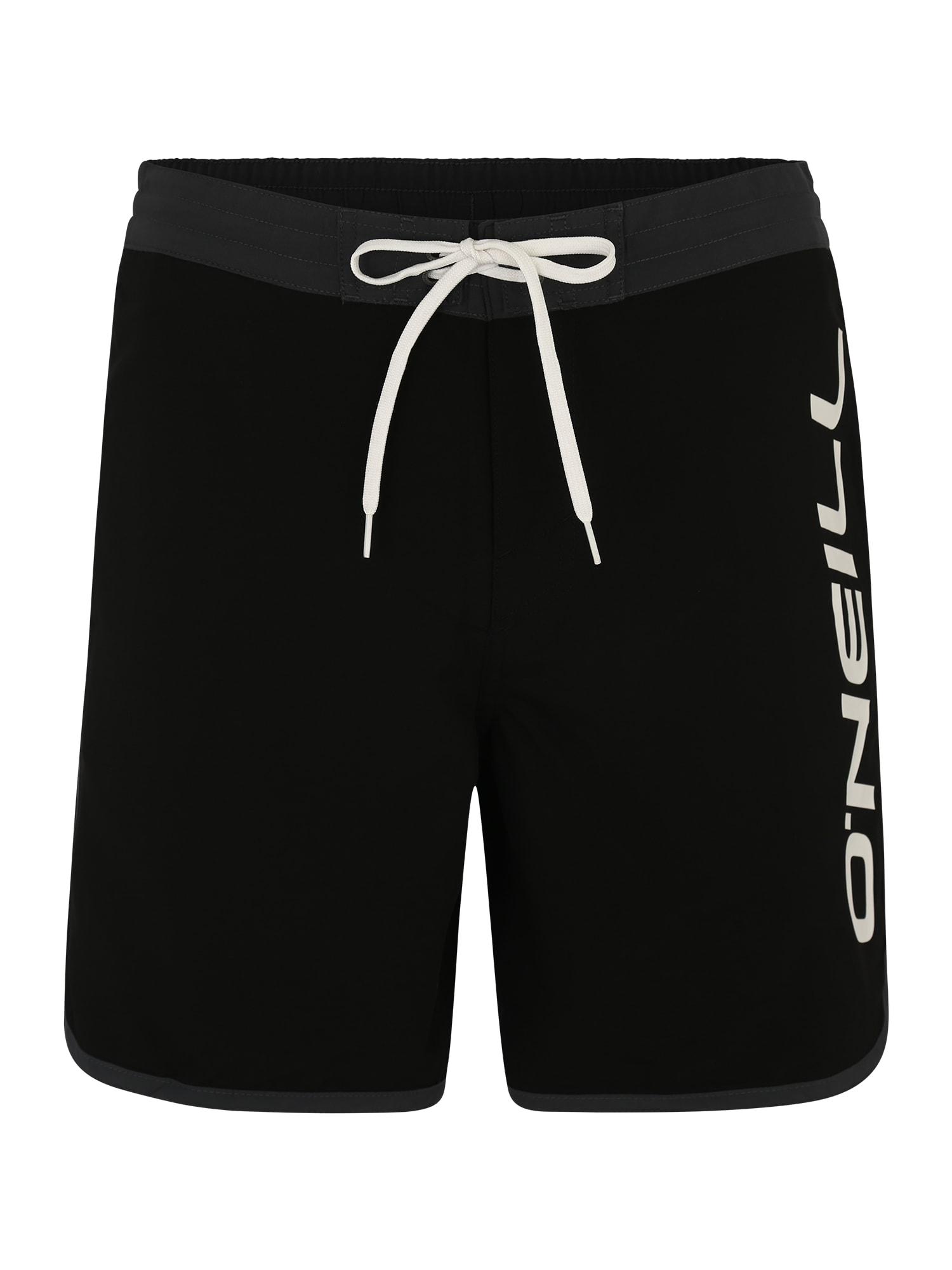 ONEILL Sportovní plavky  tmavě šedá  černá  bílá O'NEILL