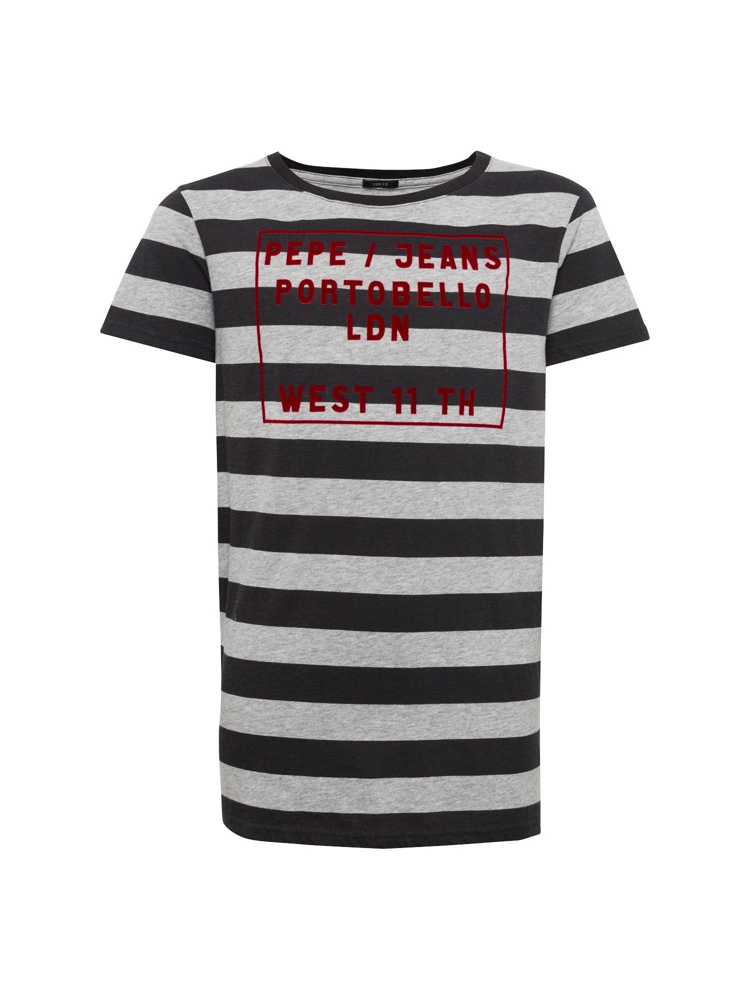 Pepe Jeans Jongens Shirt JAM TEEN grijs bloedrood zwart