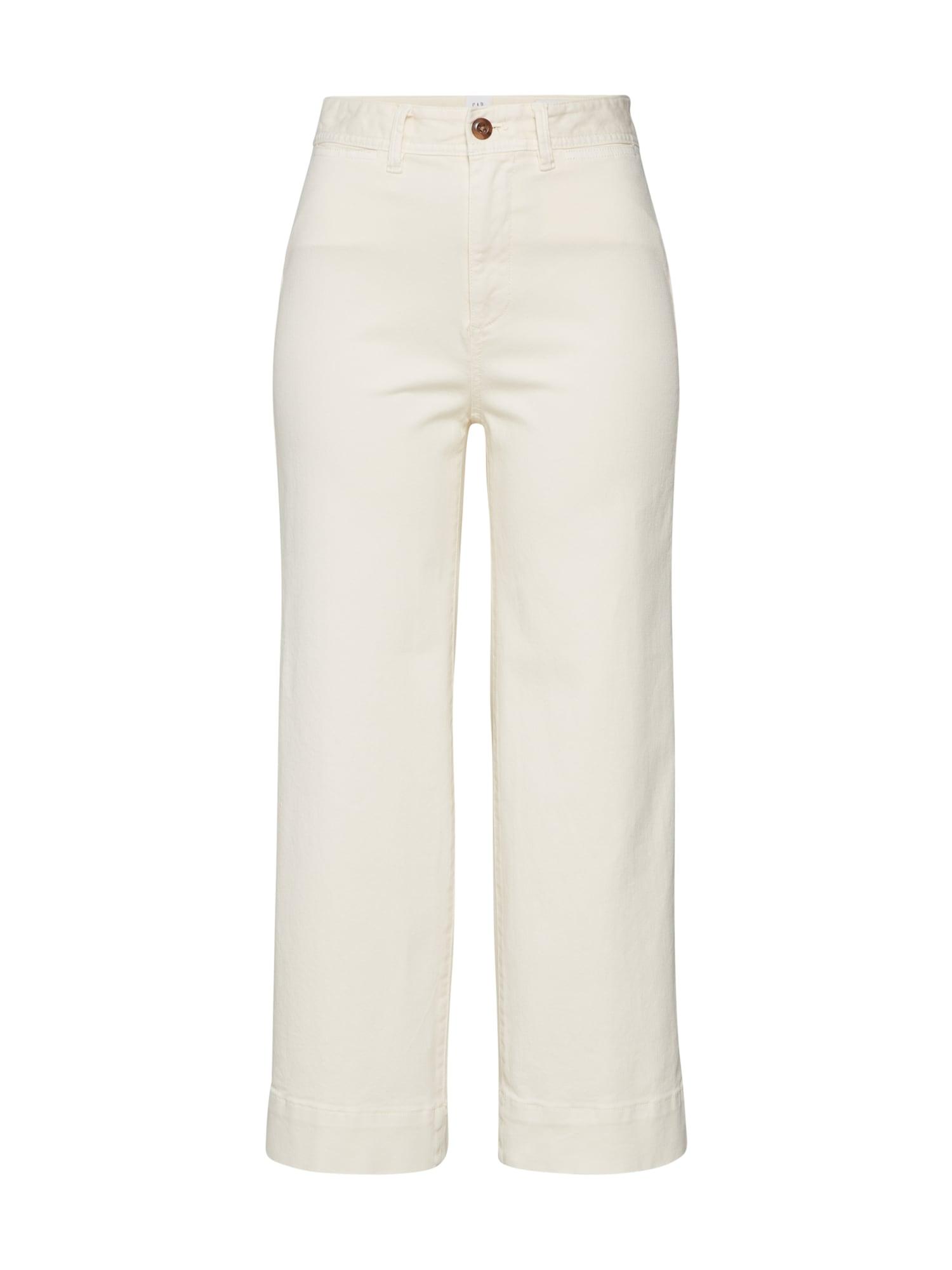 GAP Chino kalhoty  krémová