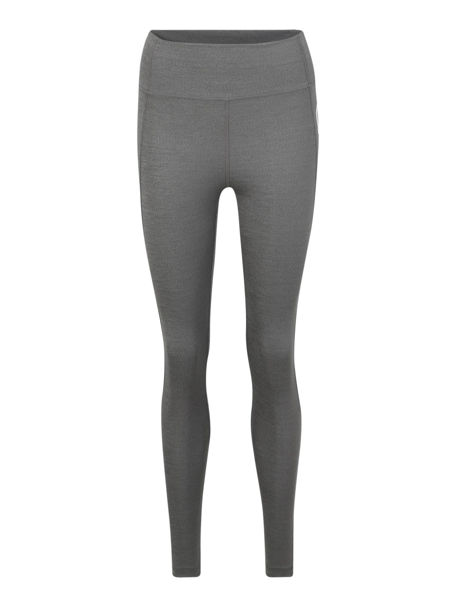 ADIDAS PERFORMANCE Sportovní kalhoty  antracitová / šedý melír
