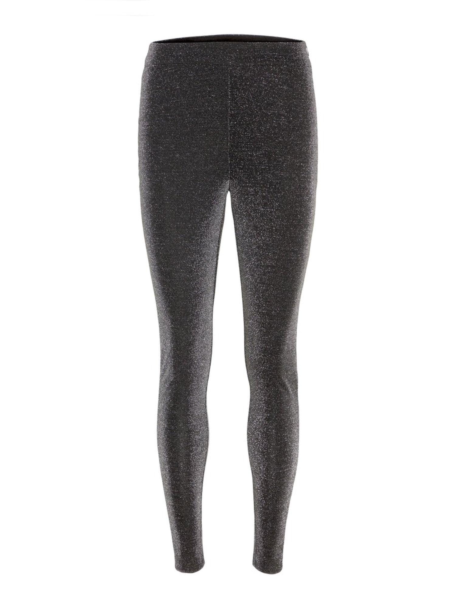 VERO MODA Slim Fit Glitter Legging Dames Zwart