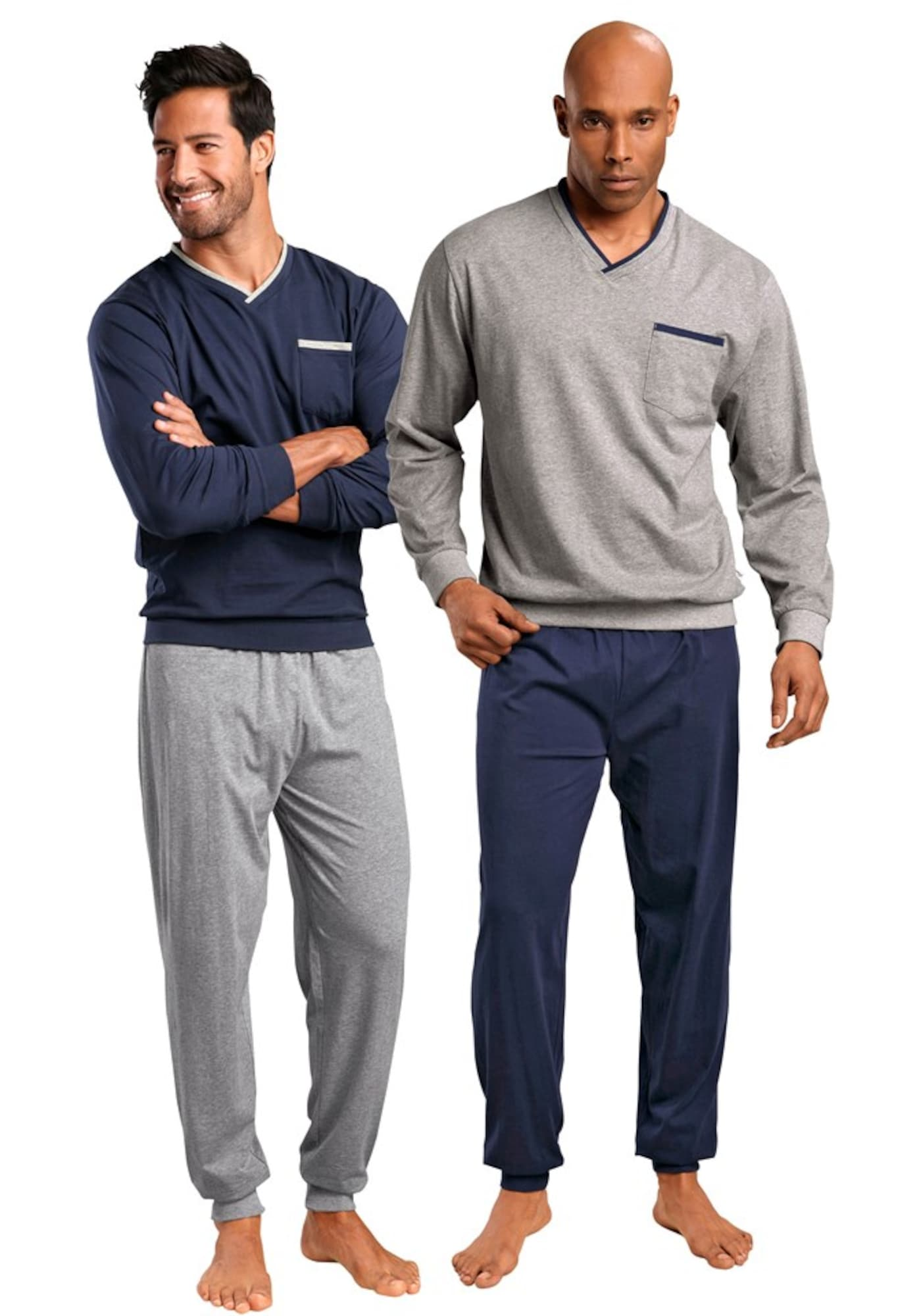 Pyjama | Bekleidung > Wäsche > Nachtwäsche | Grau | LE JOGGER