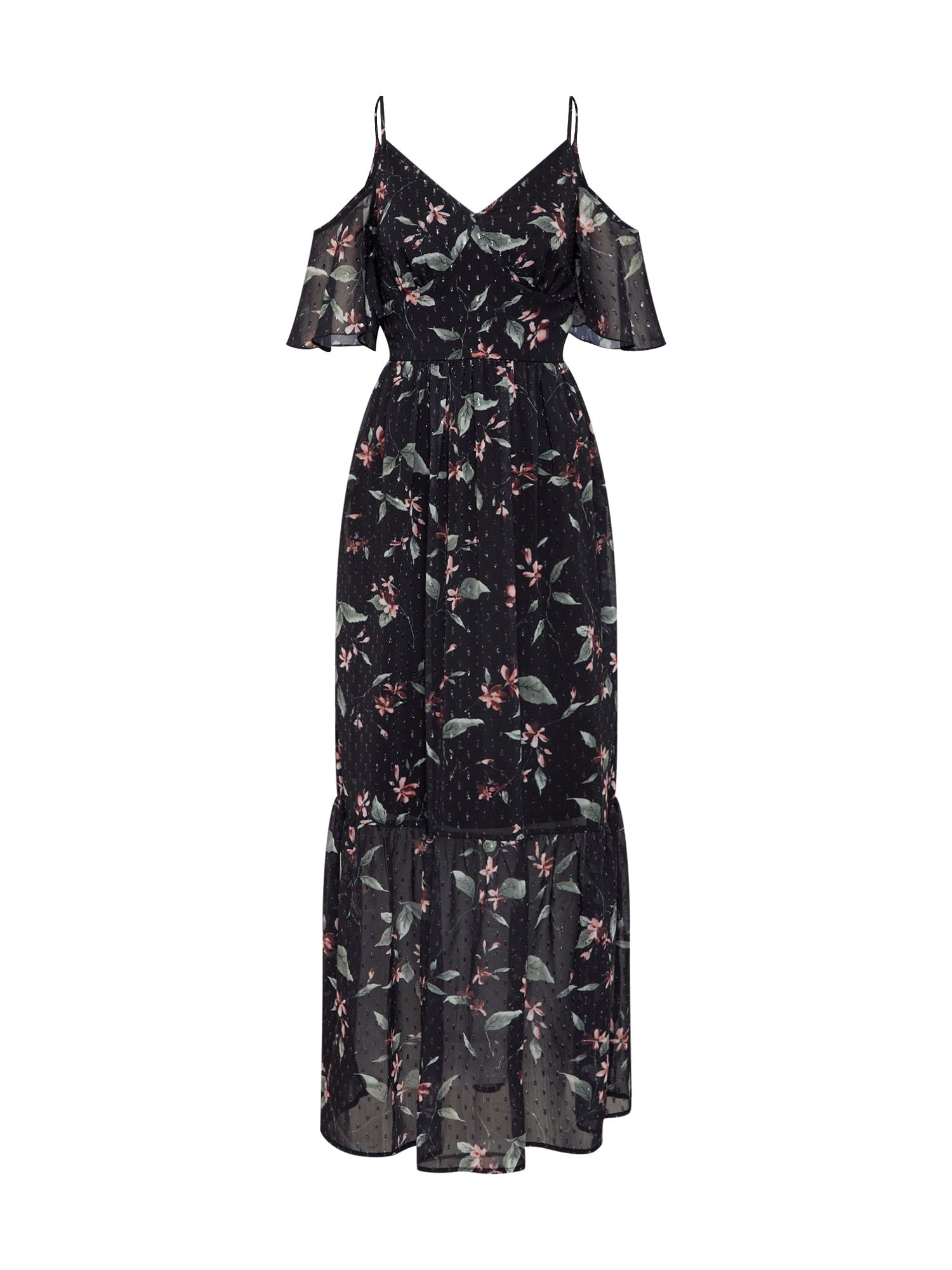 Letní šaty světlemodrá černá Boohoo