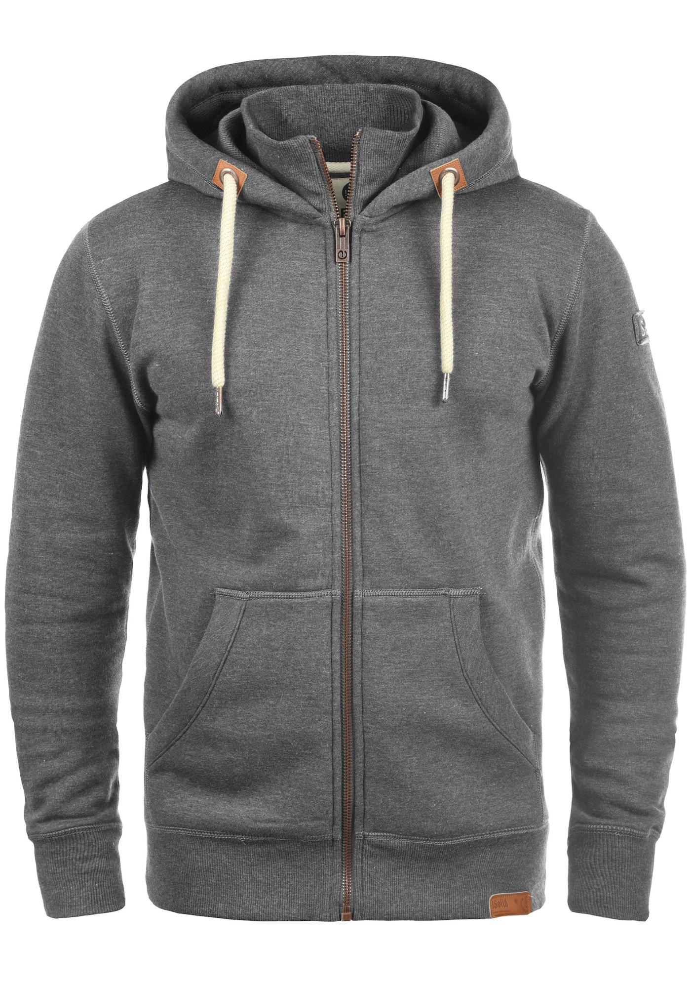 Kapuzensweatjacke 'TripZip' | Bekleidung > Sweatshirts & -jacken > Sweatjacken | Beige - Grau | !solid