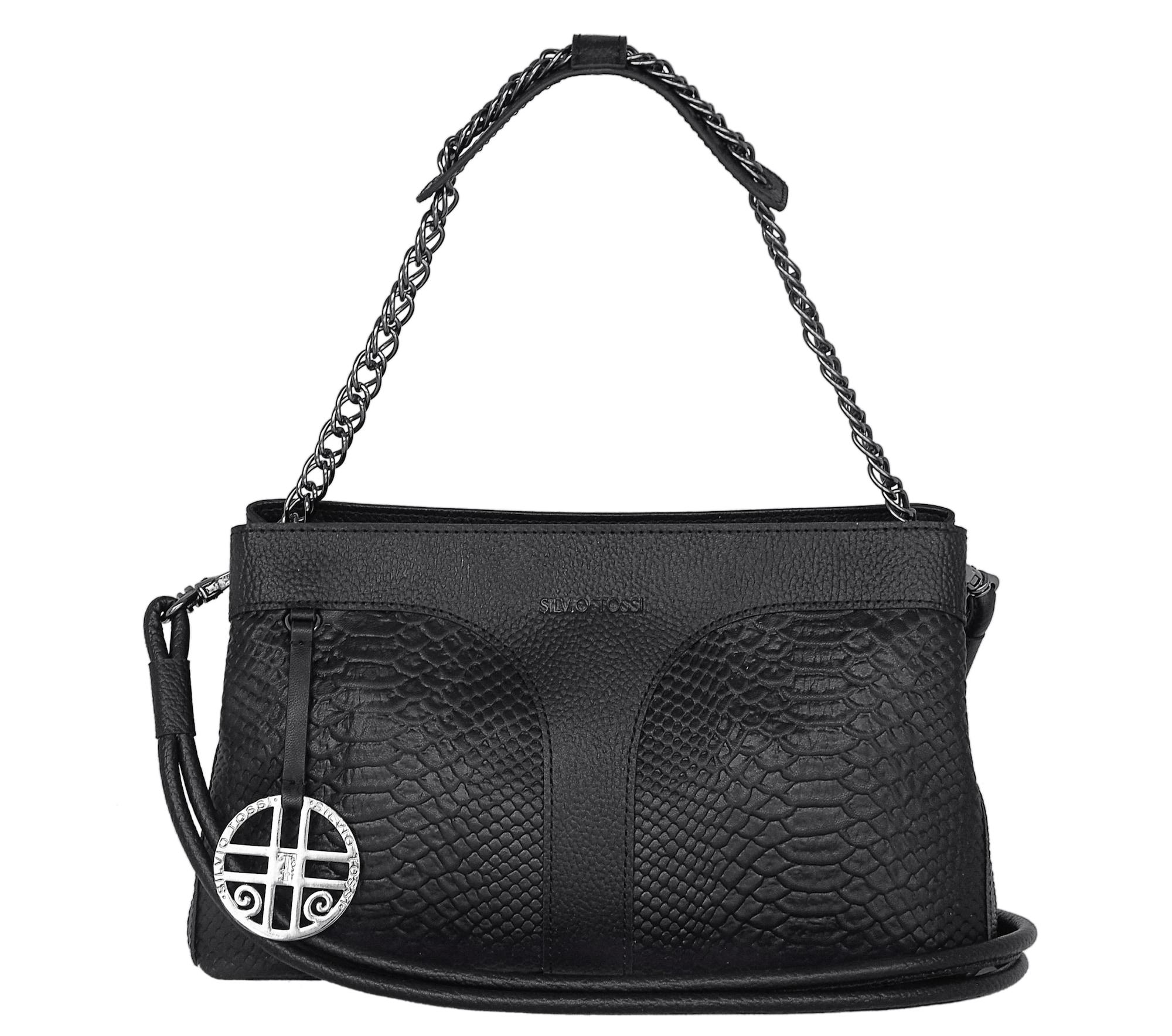 Schultertasche | Taschen > Handtaschen > Schultertaschen | Schwarz | Silvio Tossi