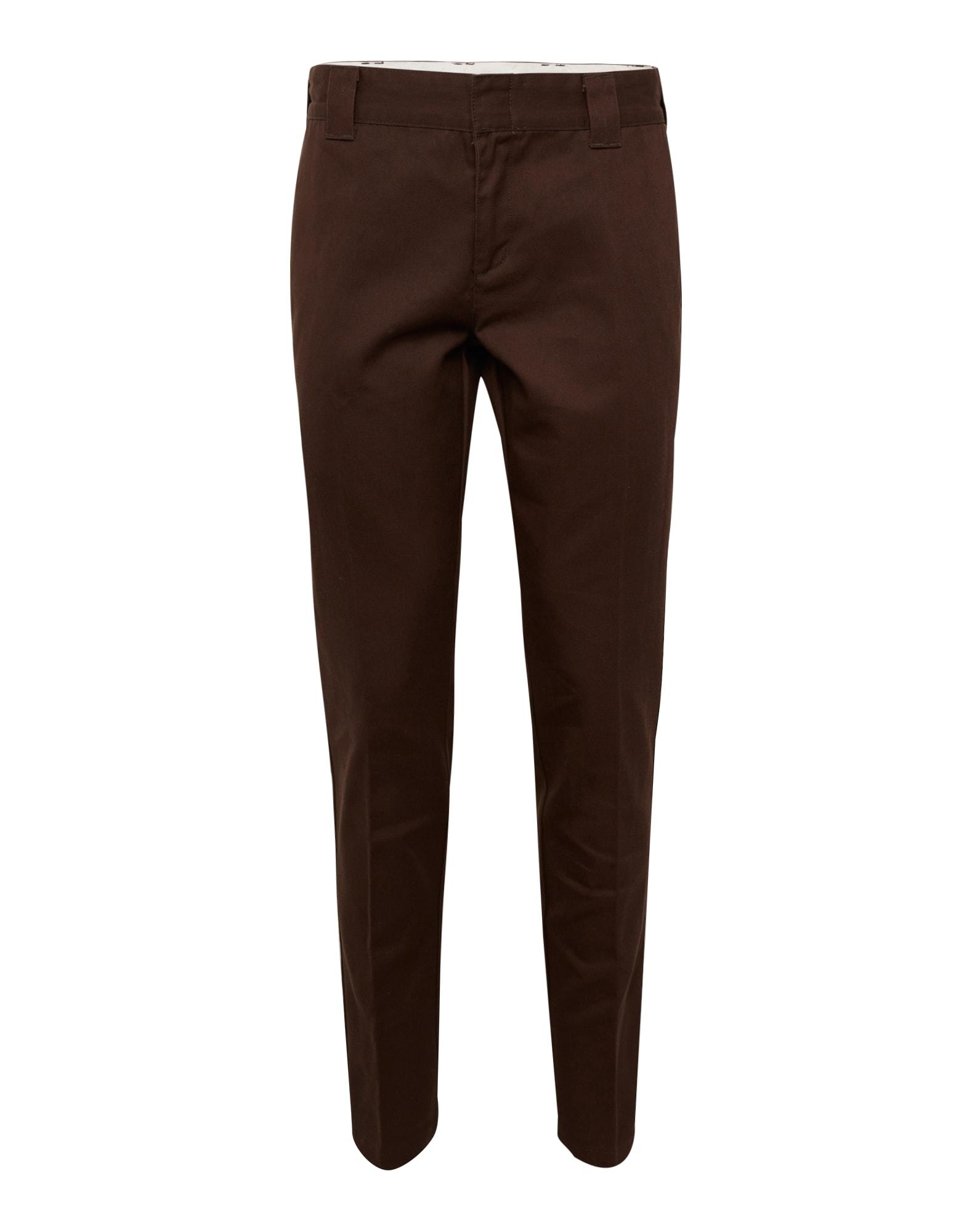 Chino kalhoty Workpant WE872 tmavě hnědá DICKIES