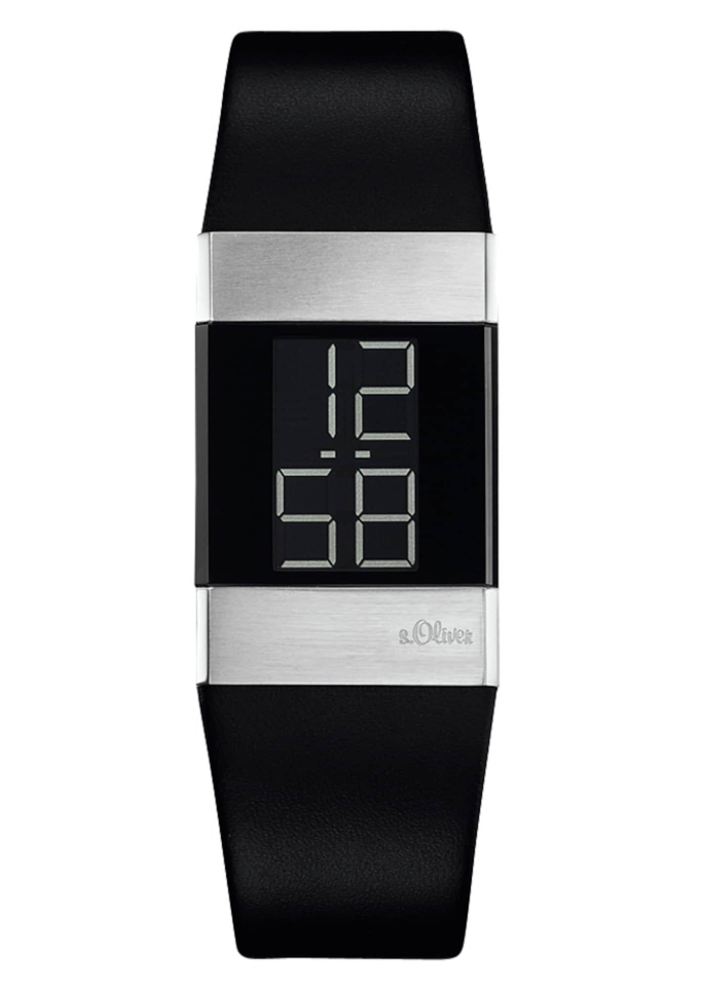 Armbanduhr | Uhren > Sonstige Armbanduhren | Silbergrau - Schwarz | S.Oliver