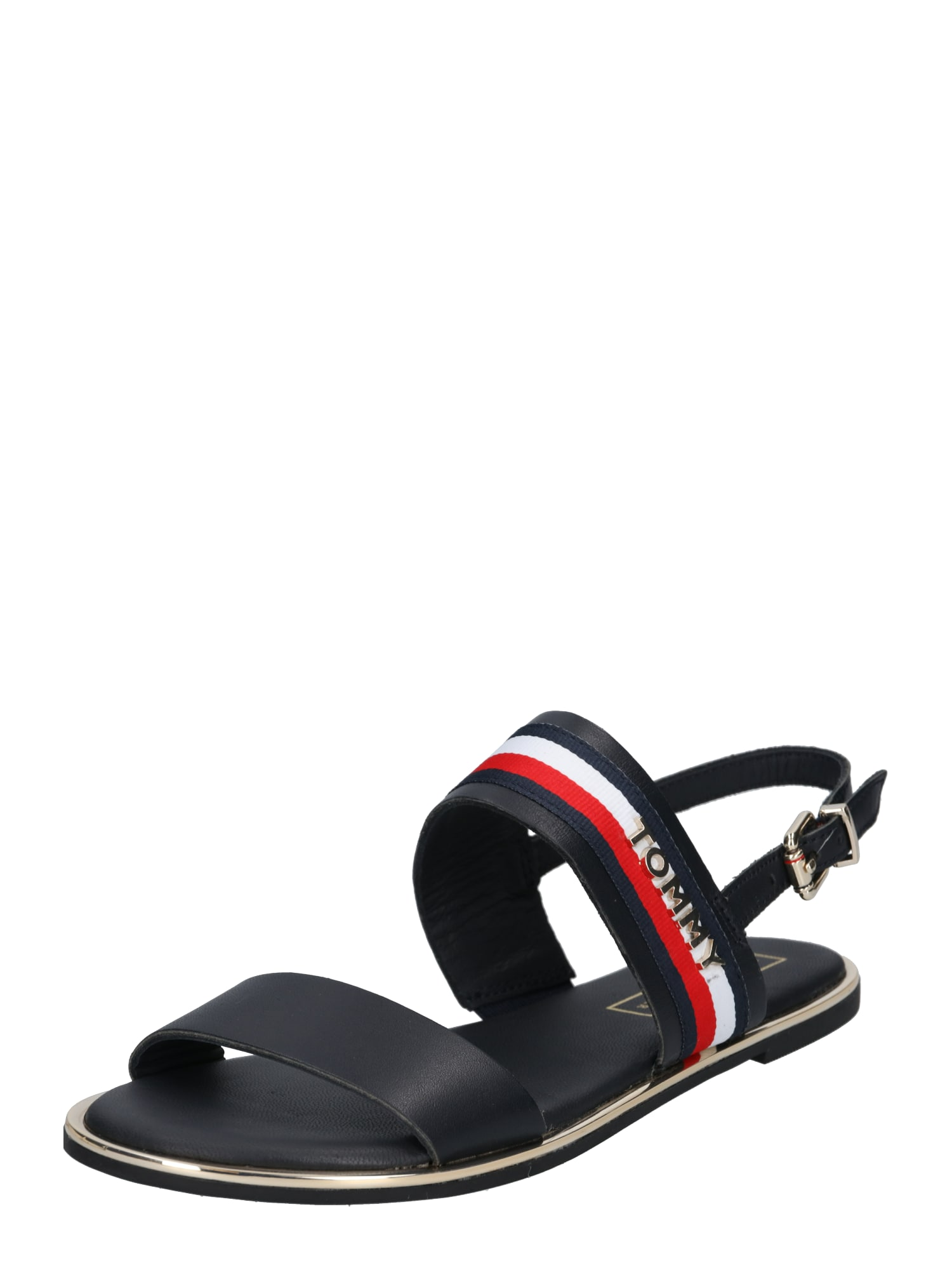 Páskové sandály Jennifer tmavě modrá světle červená bílá TOMMY HILFIGER
