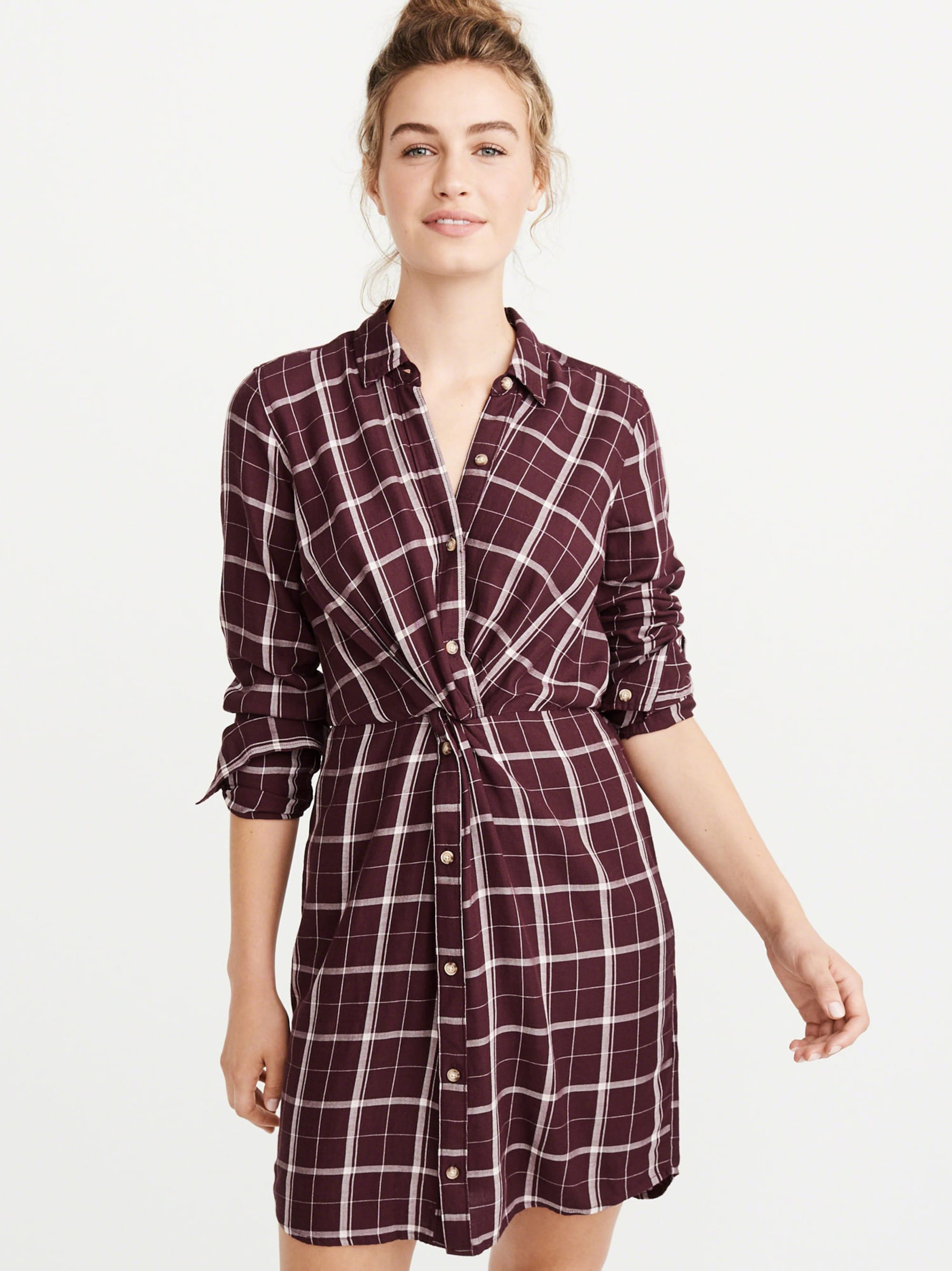Blousejurk 'KNOT FRONT SHIRTDRESS EXT'