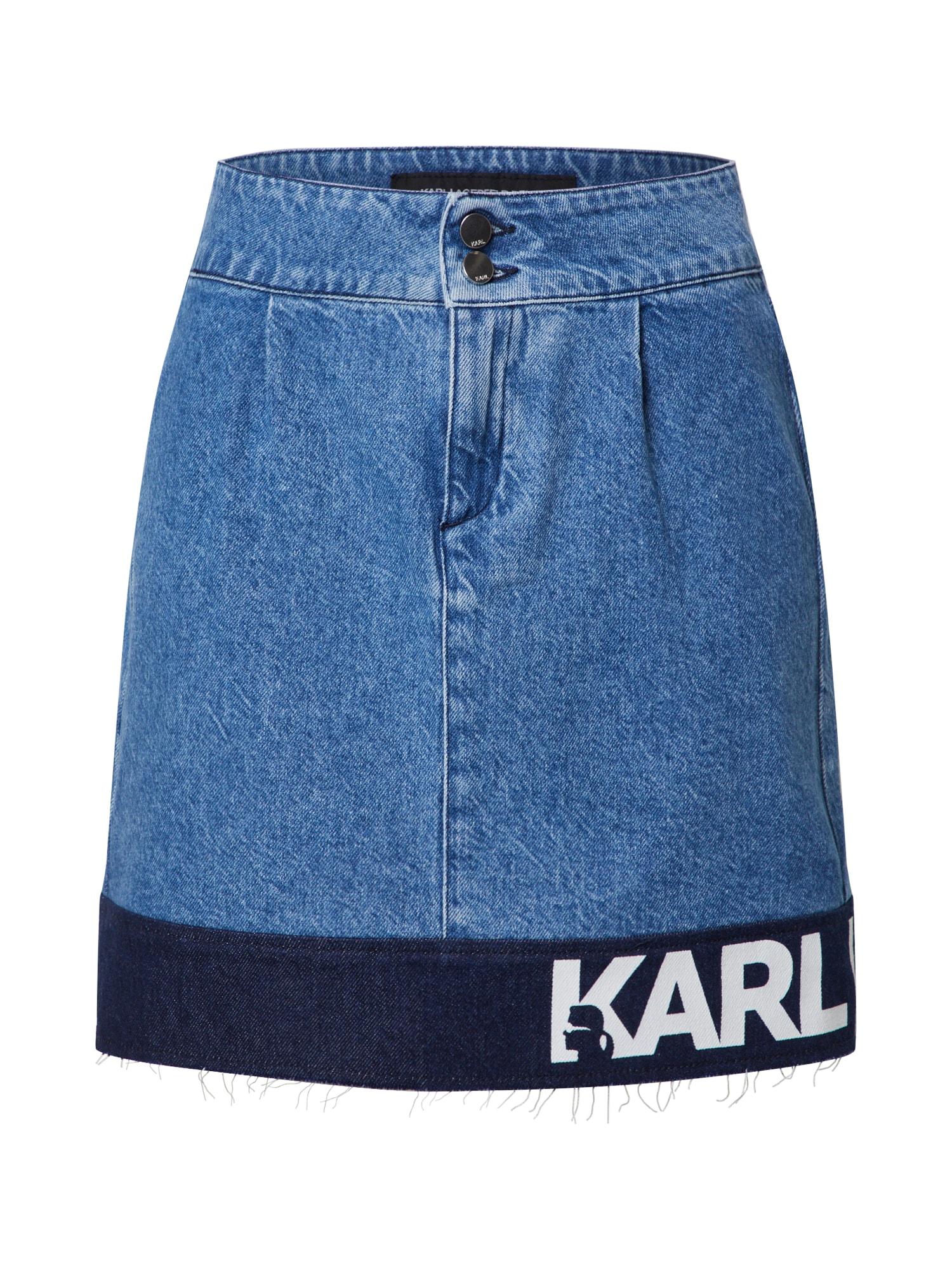 Karl Lagerfeld Denim Sukně  modrá džínovina