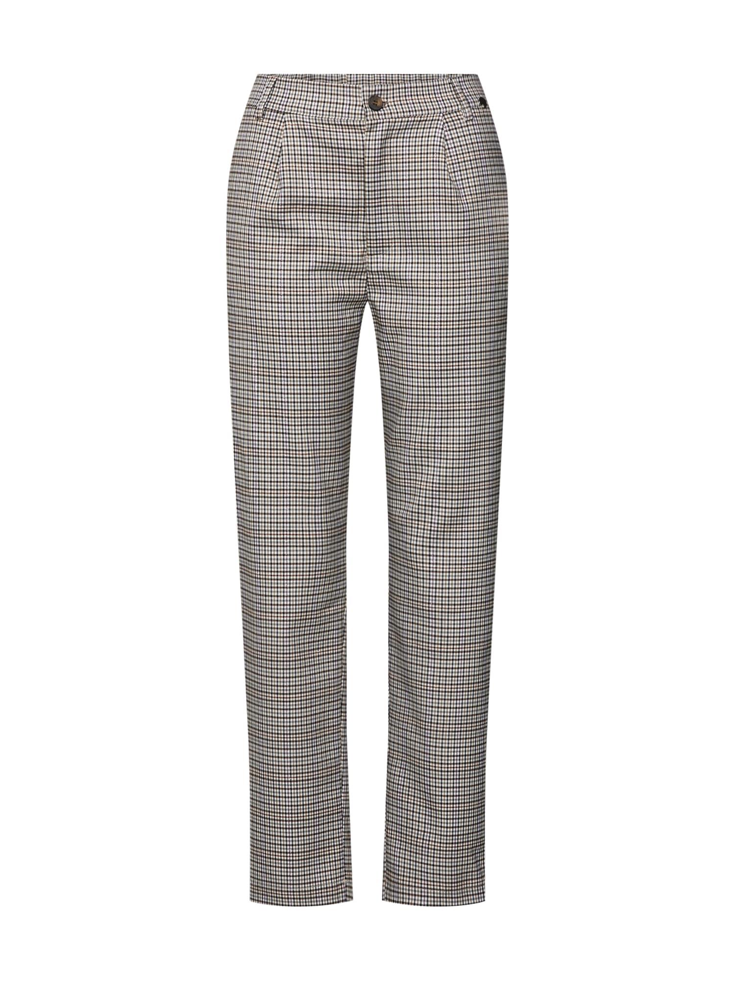 Kalhoty se sklady v pase LG007100 béžová Liebesglück