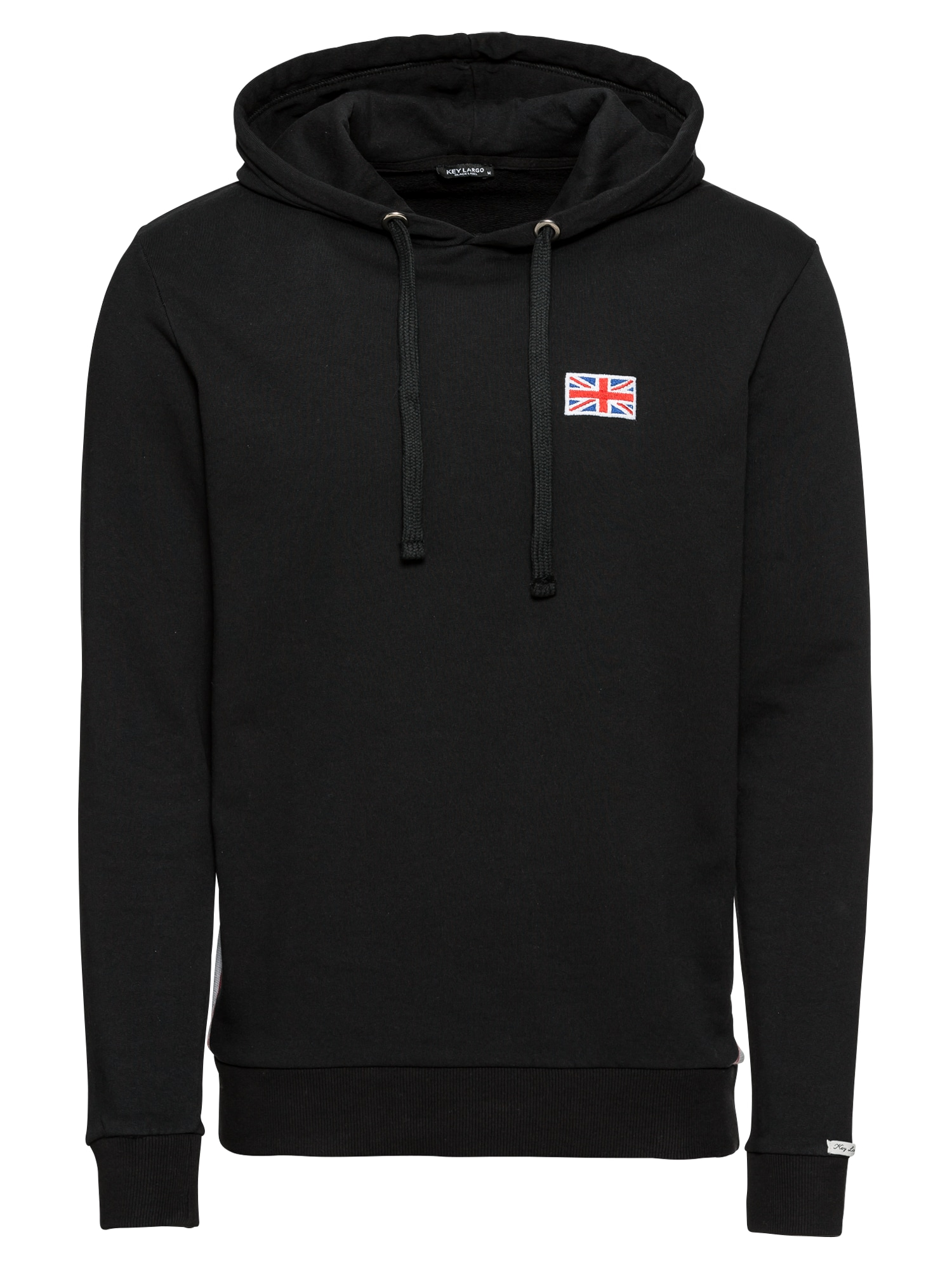 Hoodie 'MSW LONDON hoody' | Bekleidung > Pullover > Kapuzenpullover | Schwarz | Key Largo