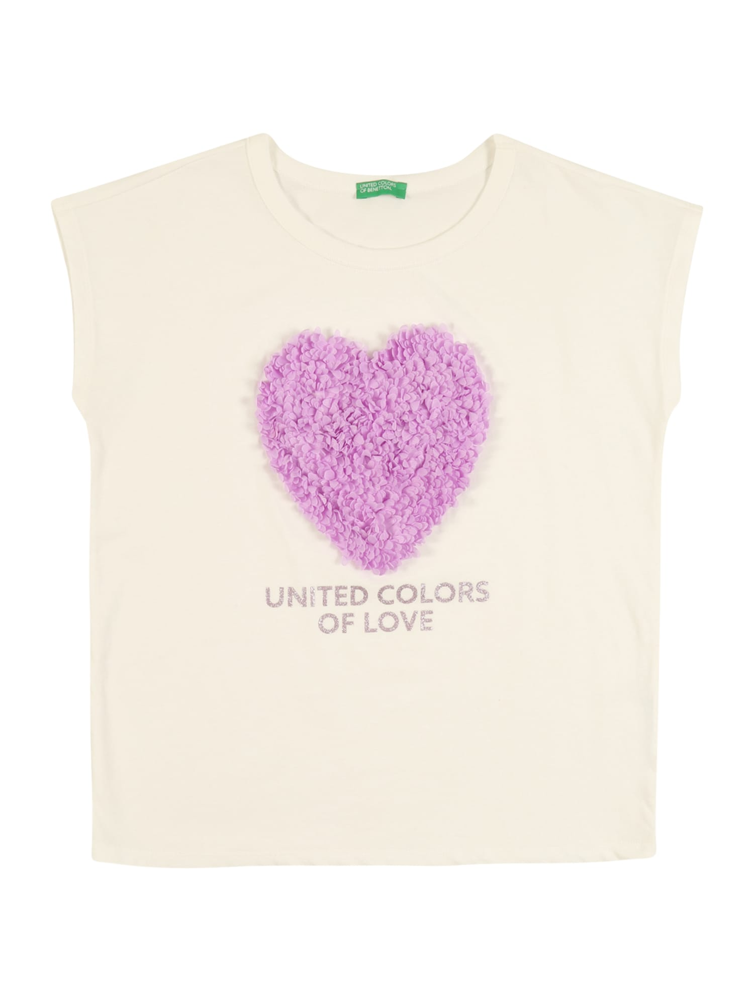 UNITED COLORS OF BENETTON Tričko  béžová / pink