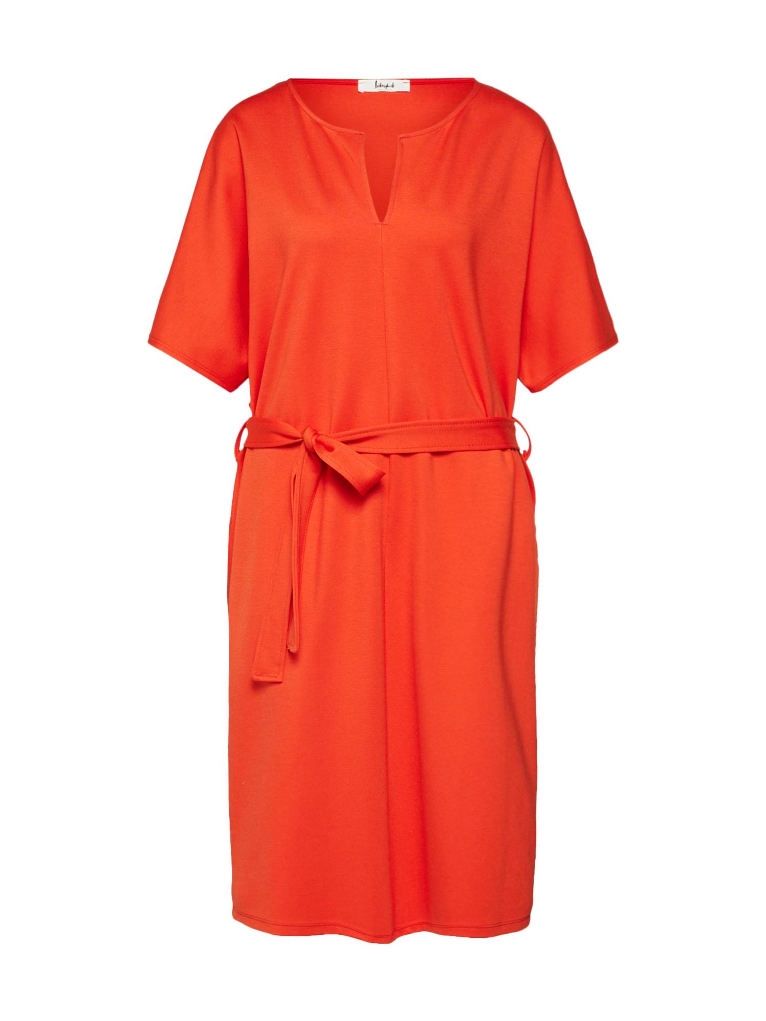 Košilové šaty LG007820 oranžově červená Liebesglück