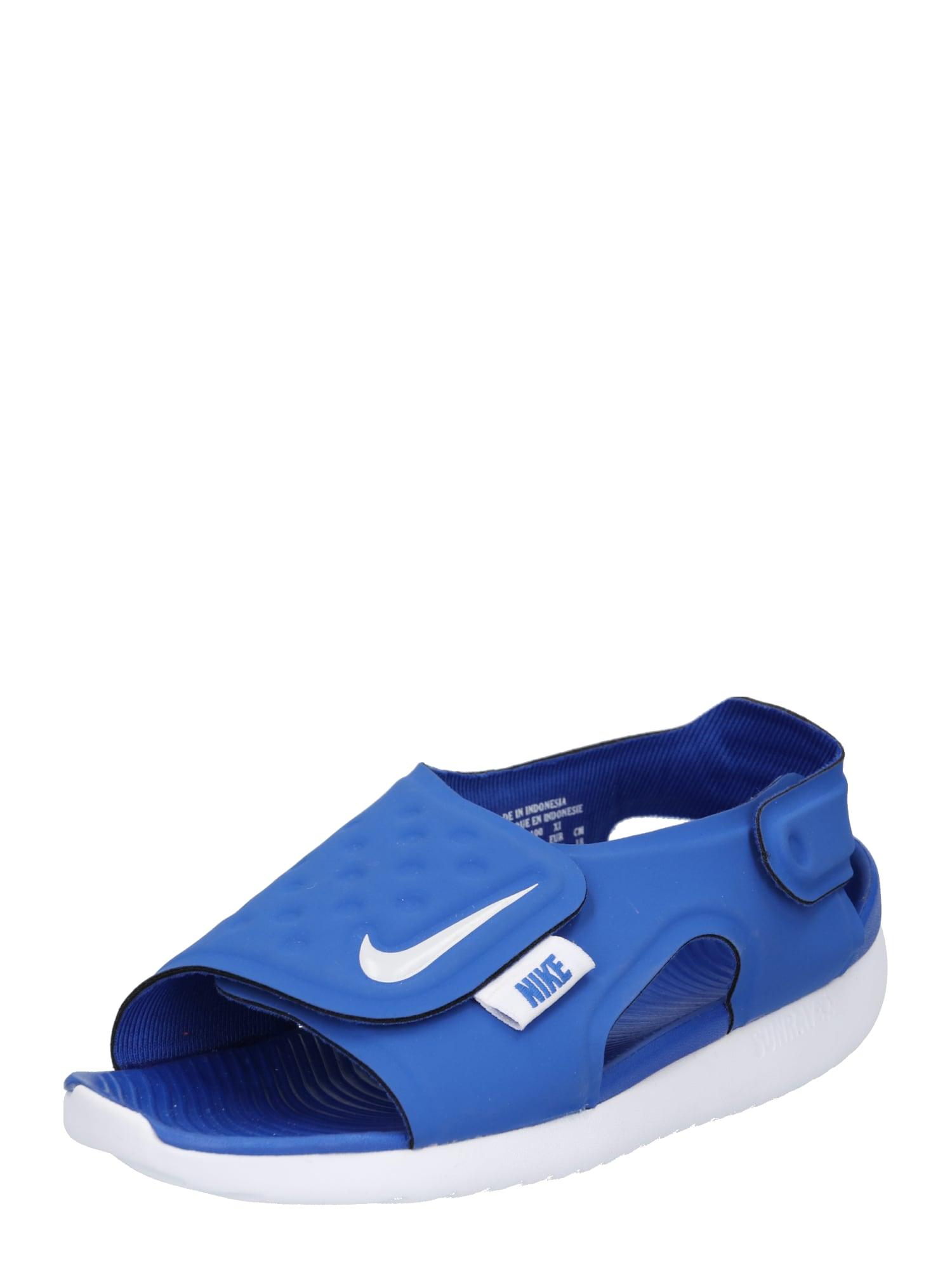 Nike Sportswear, Jongens Open schoenen 'Nike Sunray Adjust 5', blauw / grijs