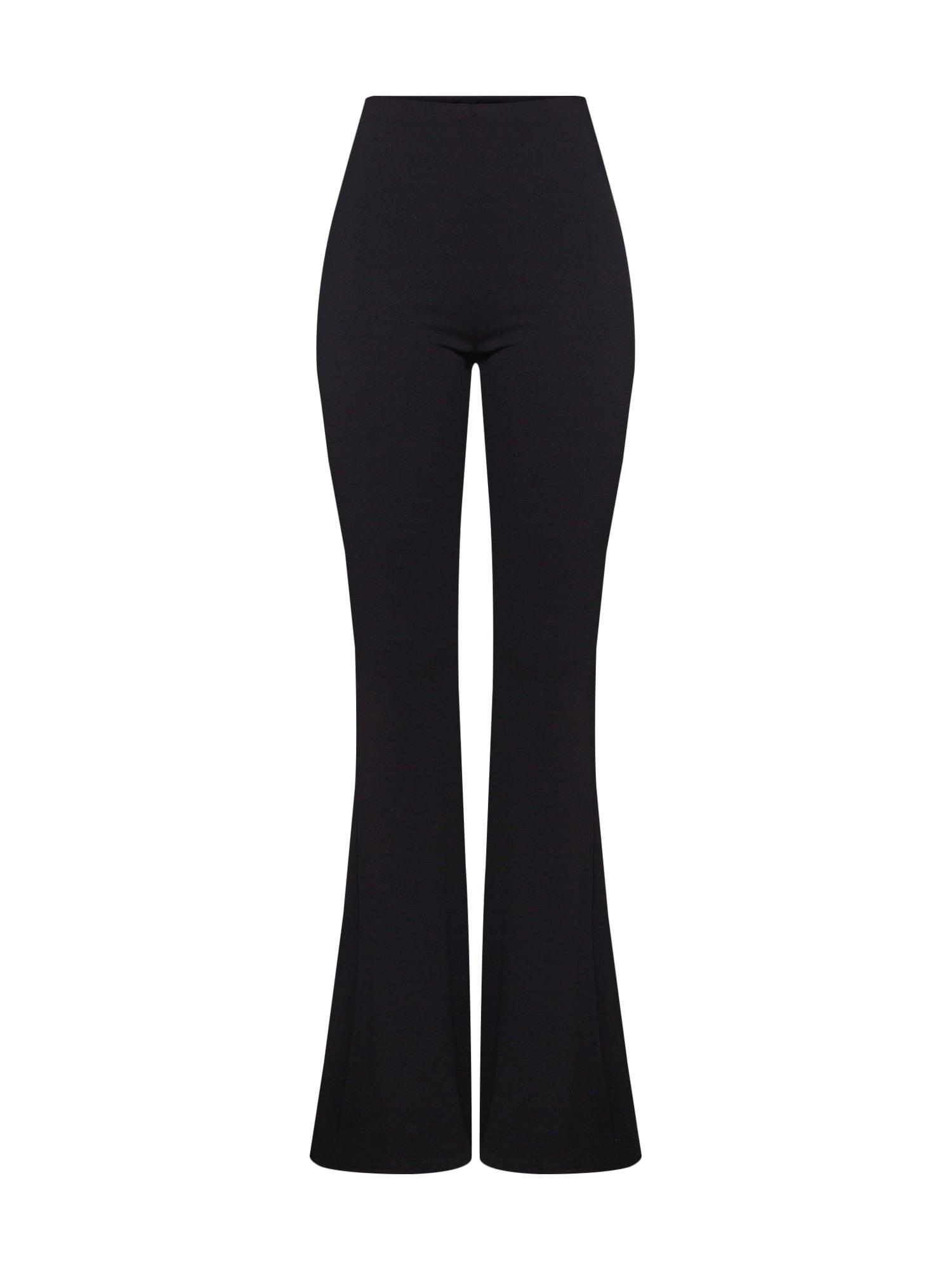 Kalhoty STRETCH CREPE FLARE TROUSER černá Missguided