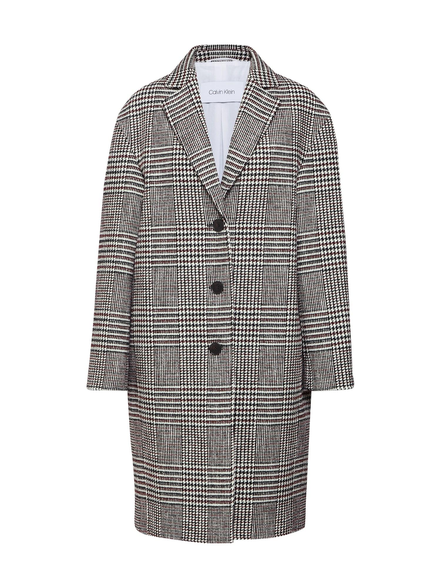 Přechodný kabát VINTAGE tmavě šedá černá Calvin Klein
