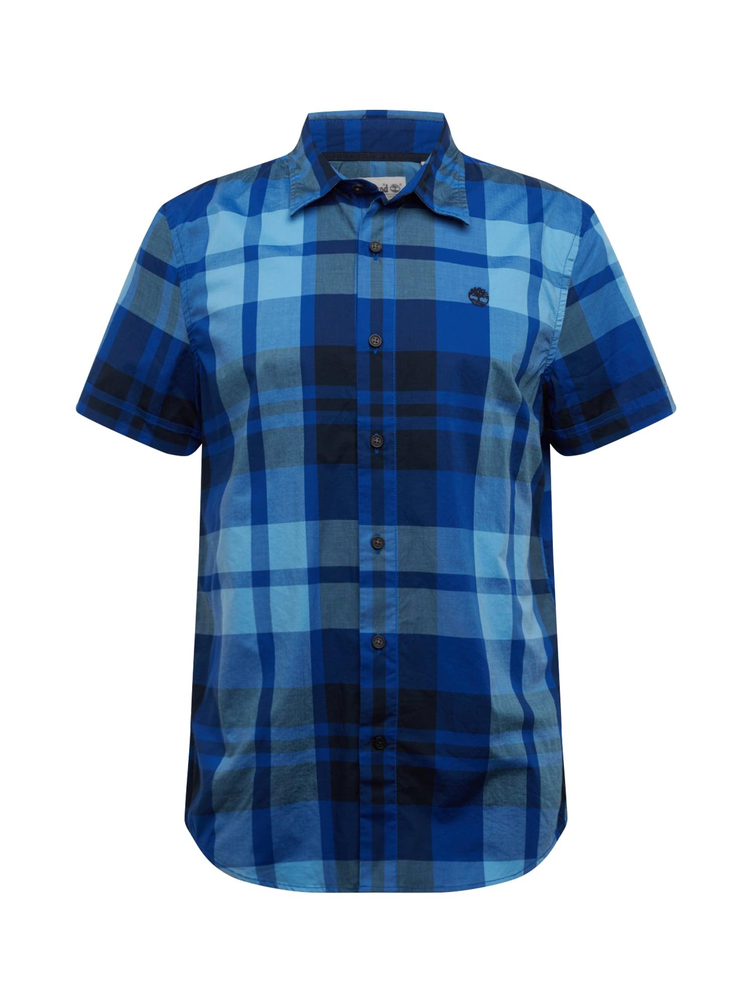 TIMBERLAND Košile 'E-R SS Plaid SF'  modrá