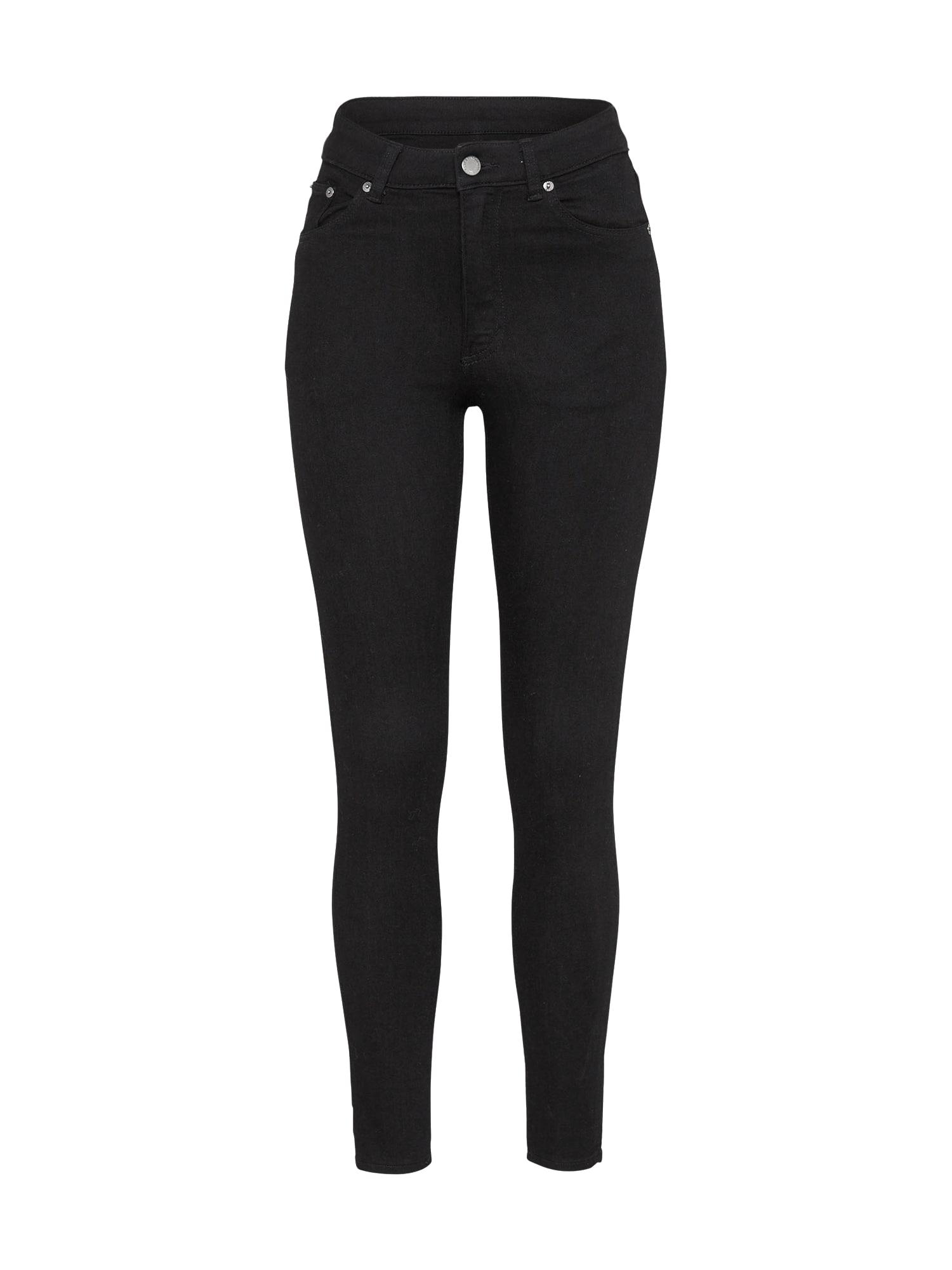 CHEAP MONDAY Dames Jeans High Skin black denim