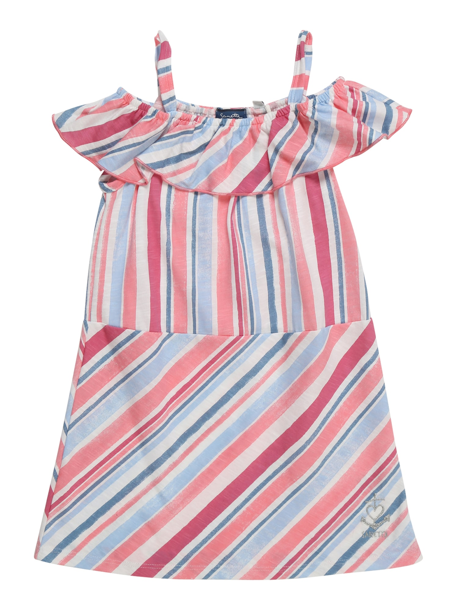 Šaty světlemodrá růžová Sanetta Kidswear