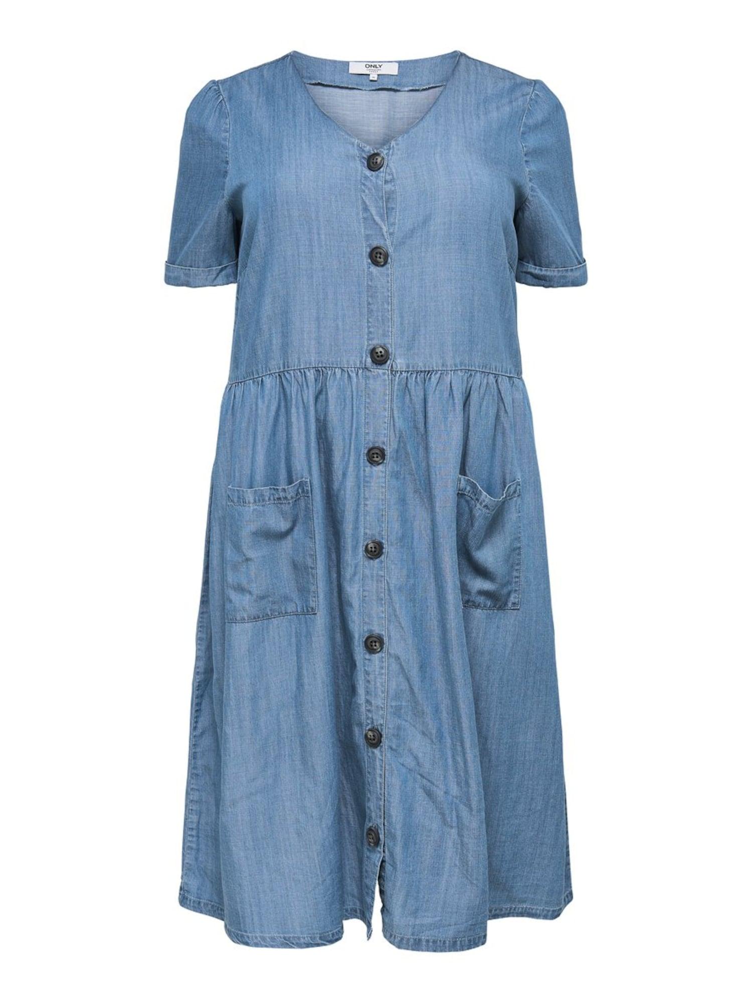 Letní šaty modrá džínovina ONLY Carmakoma