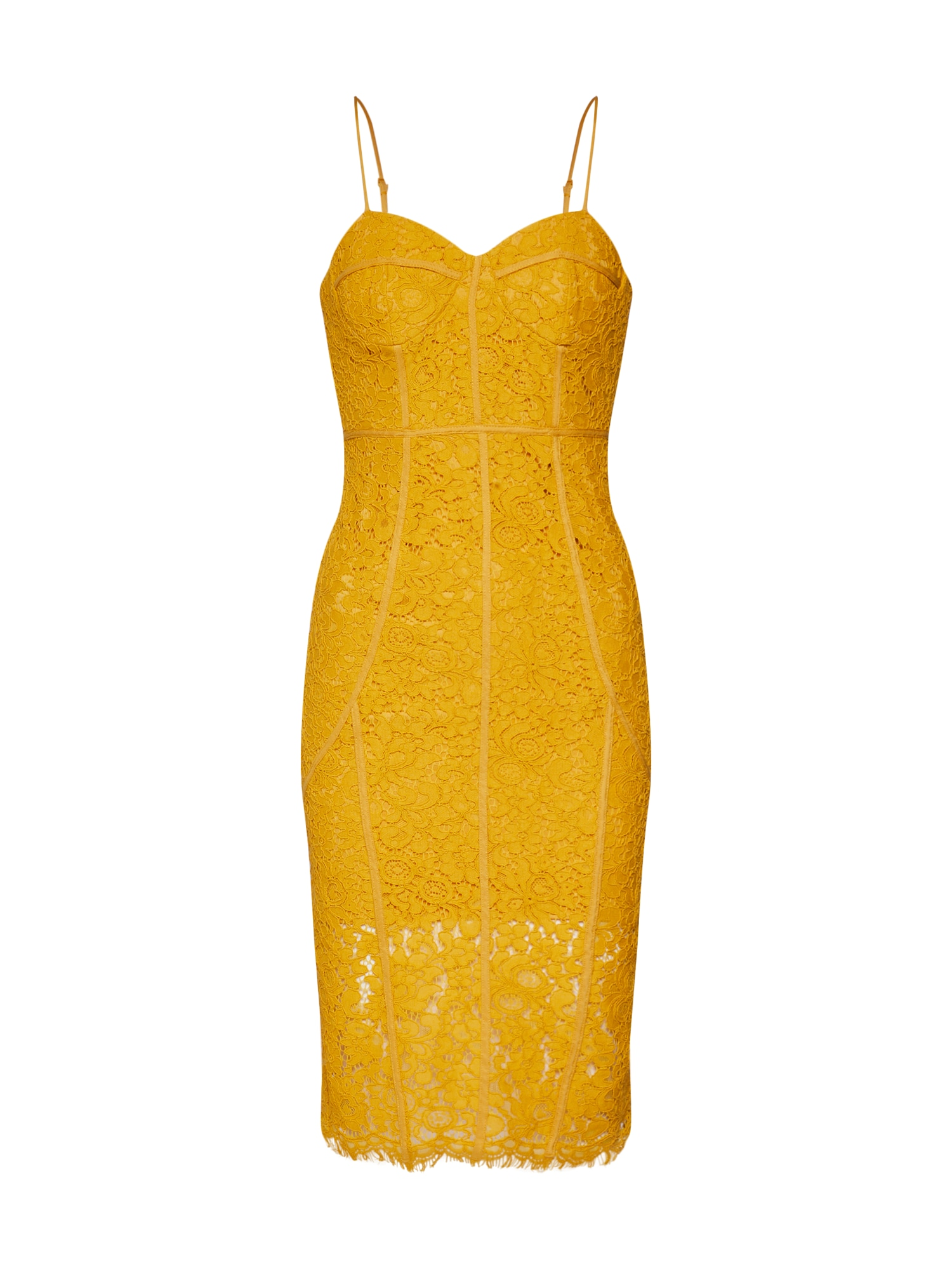 Šaty SOPHIA LACE žlutá Bardot
