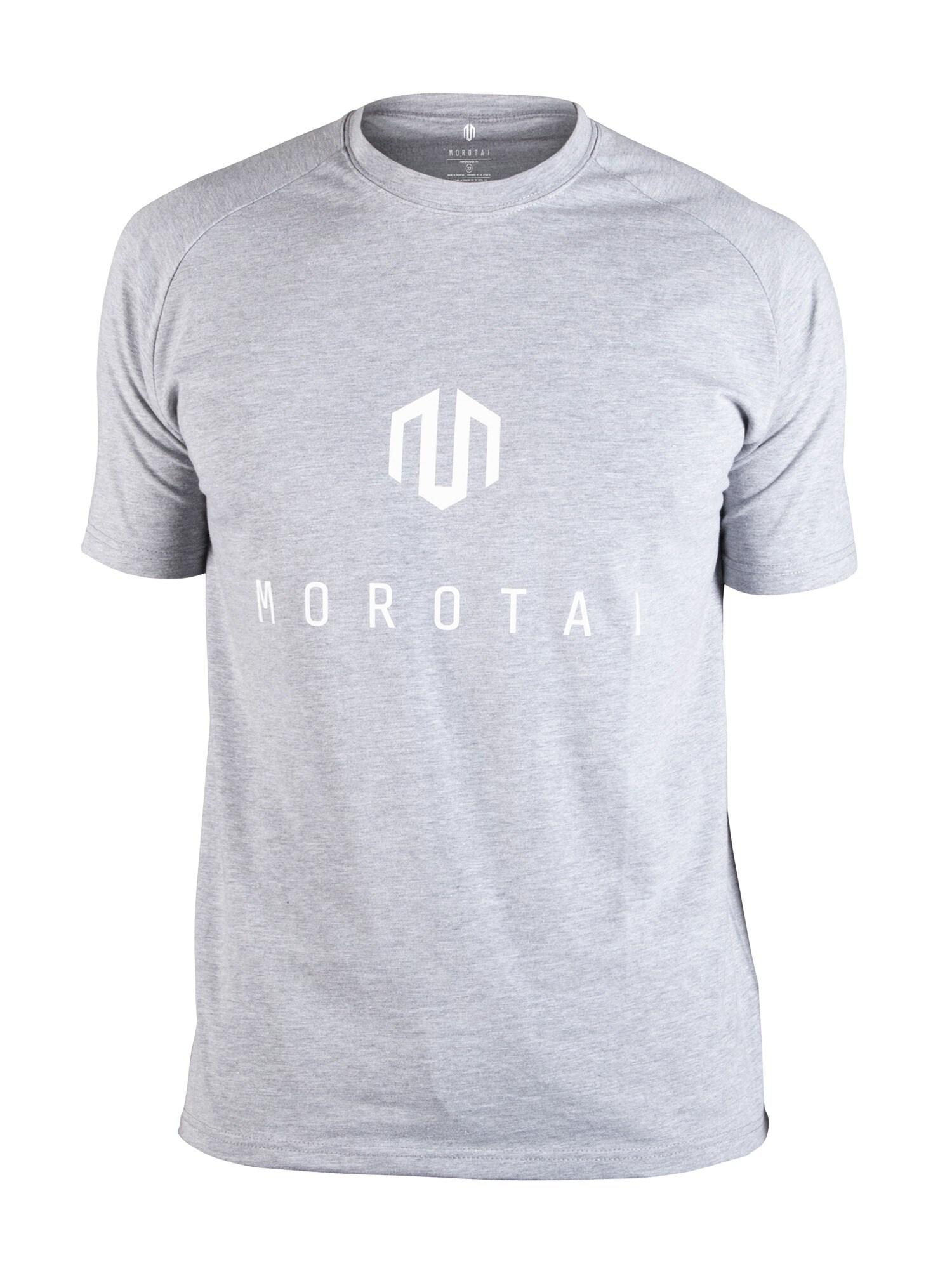 Funkční tričko Brand Basic světle šedá bílá MOROTAI
