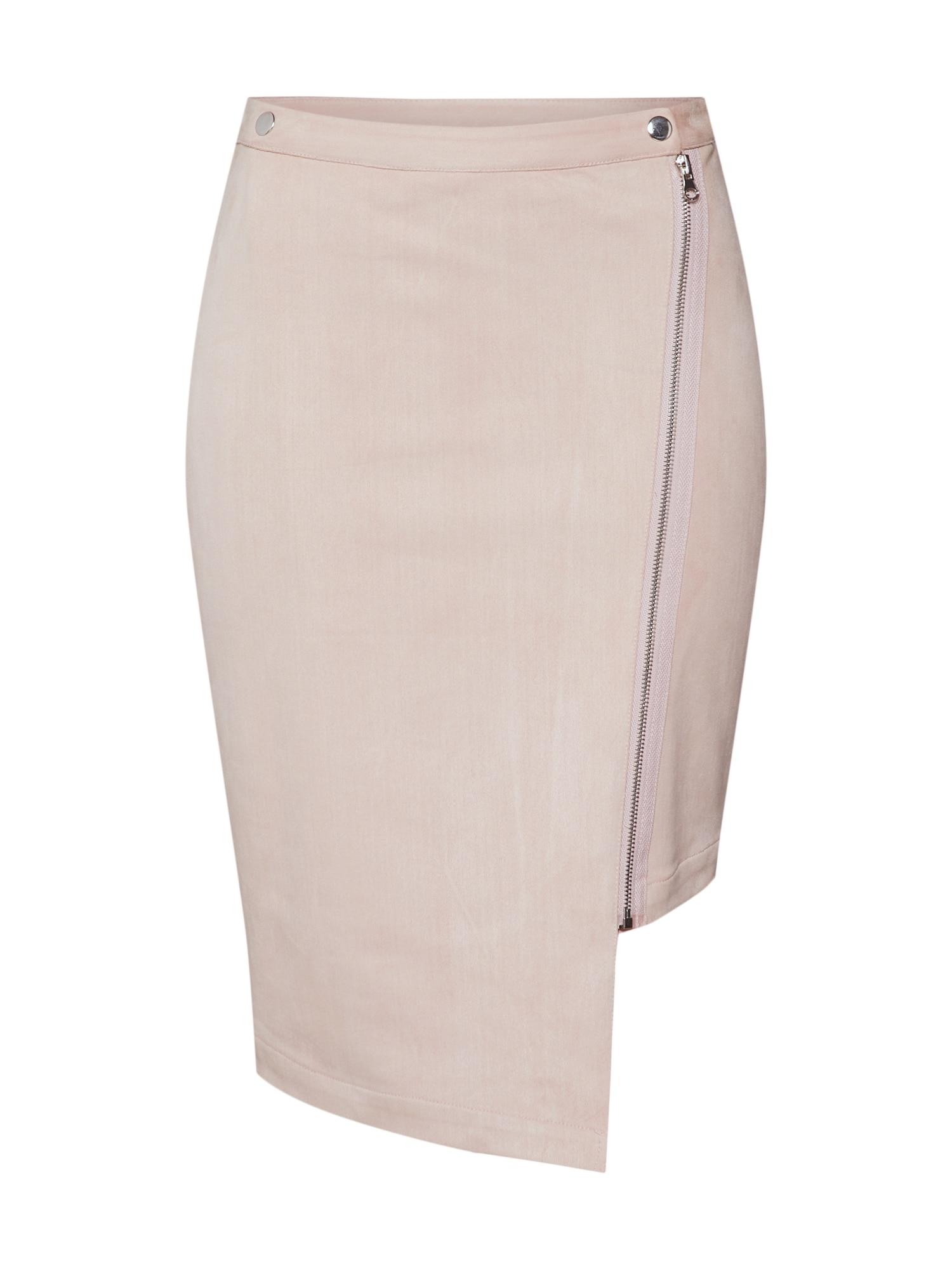 Sukně Long Biker Wrap Skirt růžová Pop Copenhagen