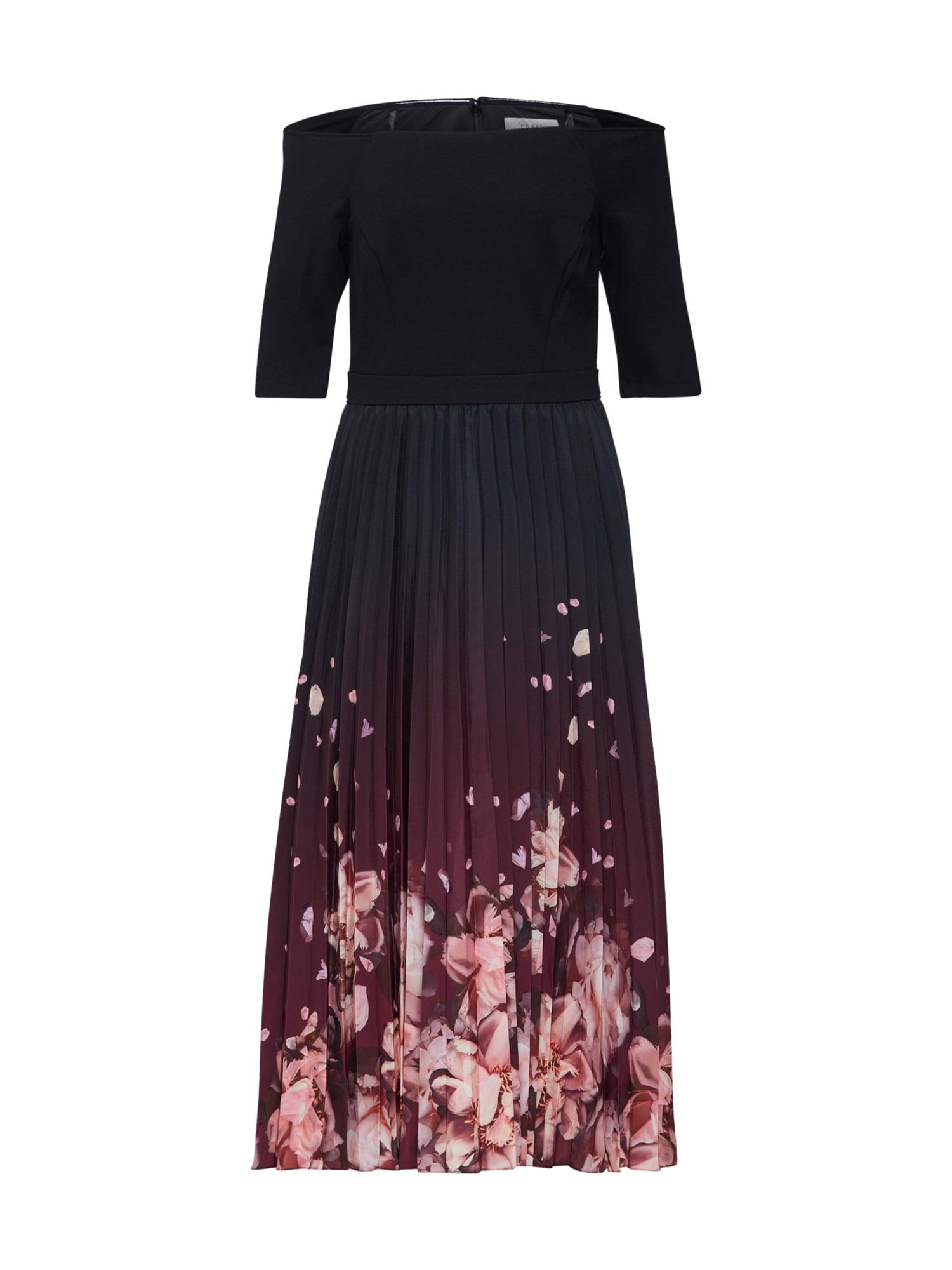 Koktejlové šaty růžová černá Coast